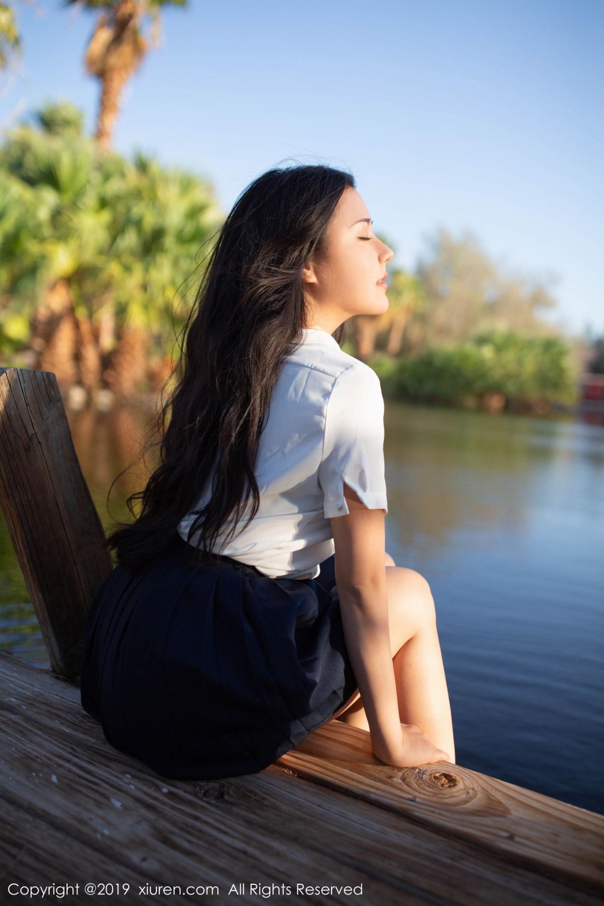 [XiuRen] Vol.1719 Ma Lu Na 5P, Big Booty, Ma Lu Na, Outdoor, School Uniform, Xiuren