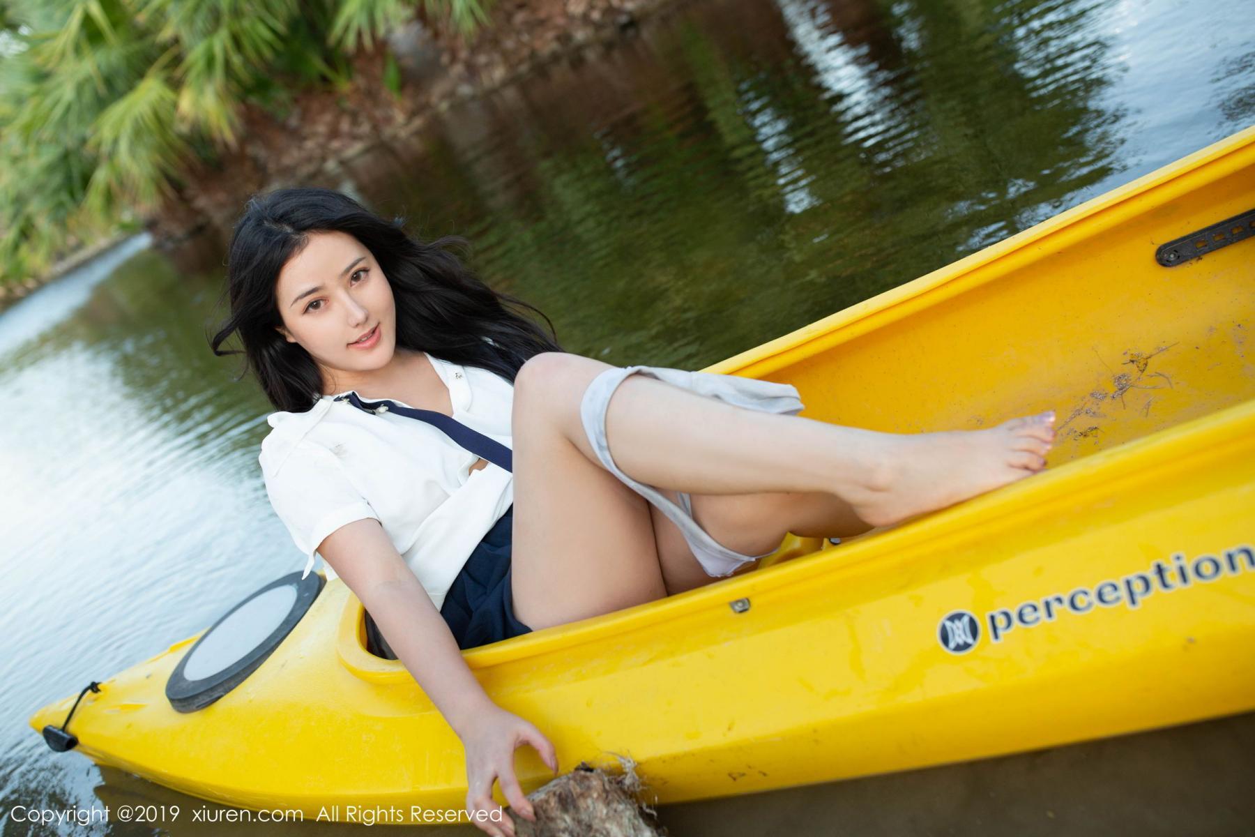 [XiuRen] Vol.1719 Ma Lu Na 7P, Big Booty, Ma Lu Na, Outdoor, School Uniform, Xiuren