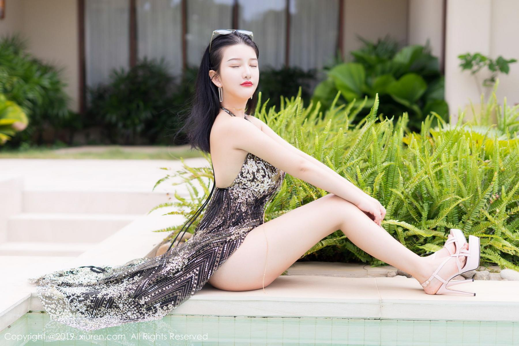 [XiuRen] Vol.1726 Lu Lu Xiao Miao 14P, Lu Lu Xiao Miao, Outdoor, Swim Pool, Xiuren