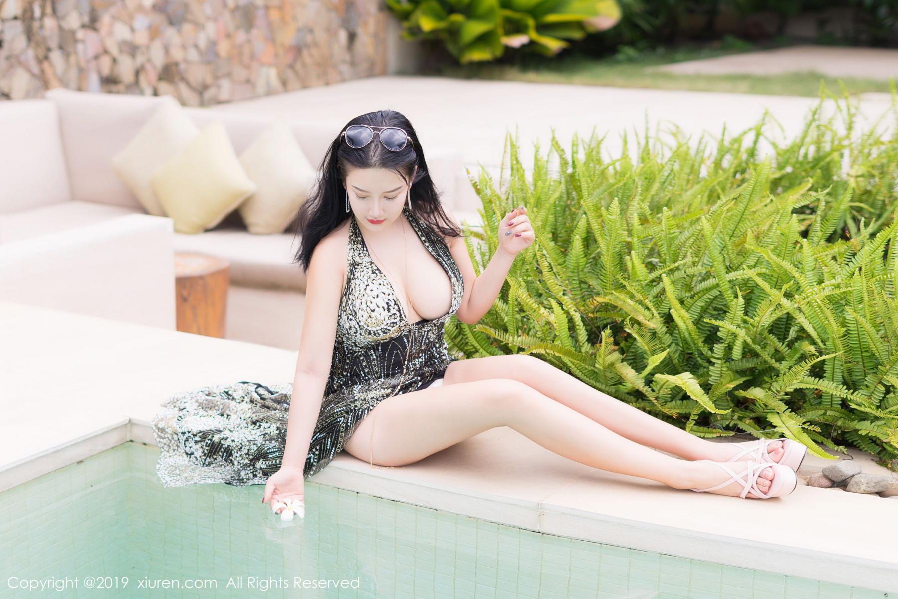 [XiuRen] Vol.1726 Lu Lu Xiao Miao 16P, Lu Lu Xiao Miao, Outdoor, Swim Pool, Xiuren