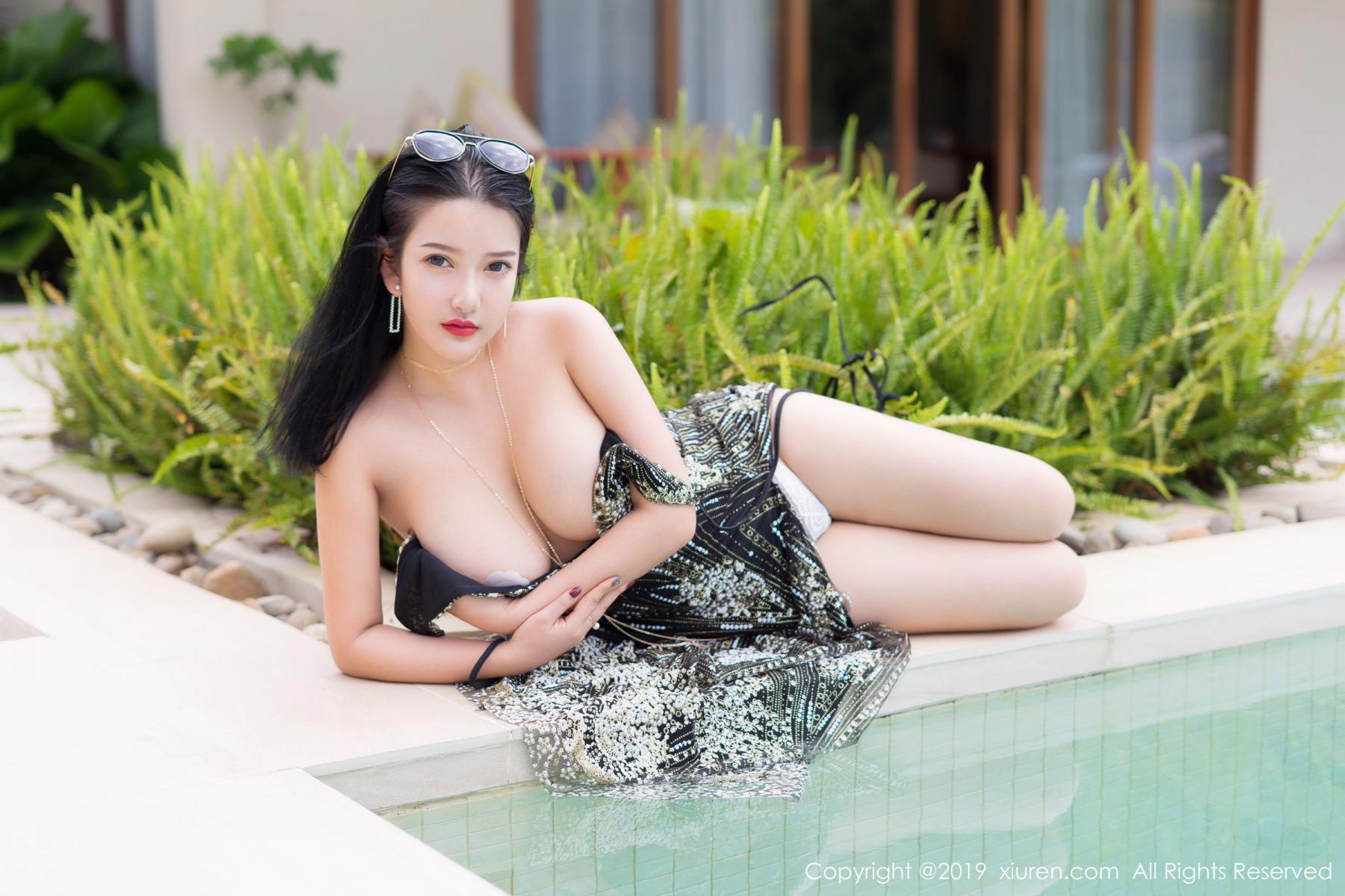 [XiuRen] Vol.1726 Lu Lu Xiao Miao 21P, Lu Lu Xiao Miao, Outdoor, Swim Pool, Xiuren