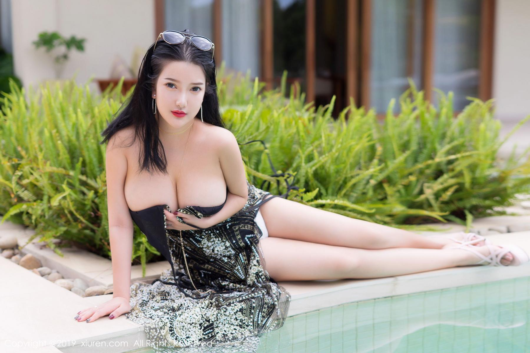 [XiuRen] Vol.1726 Lu Lu Xiao Miao 22P, Lu Lu Xiao Miao, Outdoor, Swim Pool, Xiuren