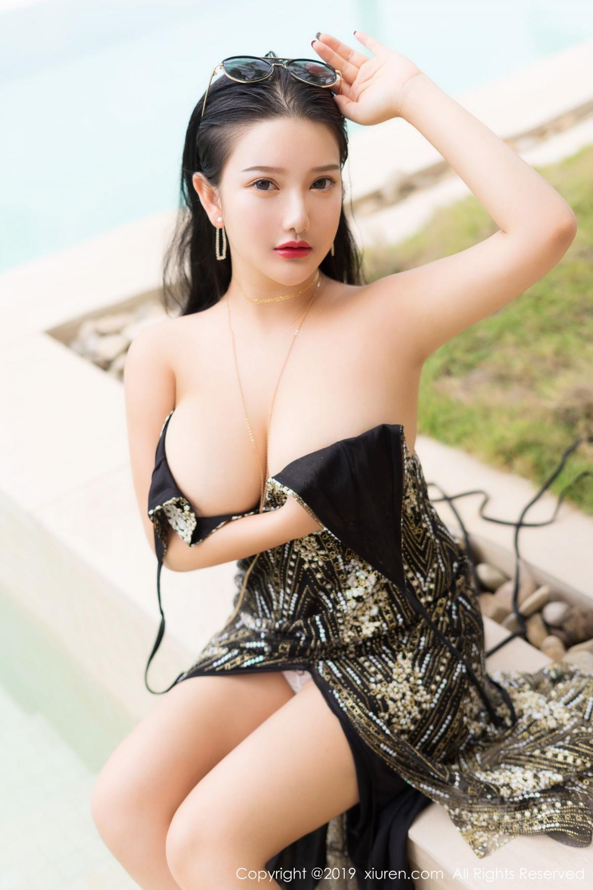 [XiuRen] Vol.1726 Lu Lu Xiao Miao 23P, Lu Lu Xiao Miao, Outdoor, Swim Pool, Xiuren
