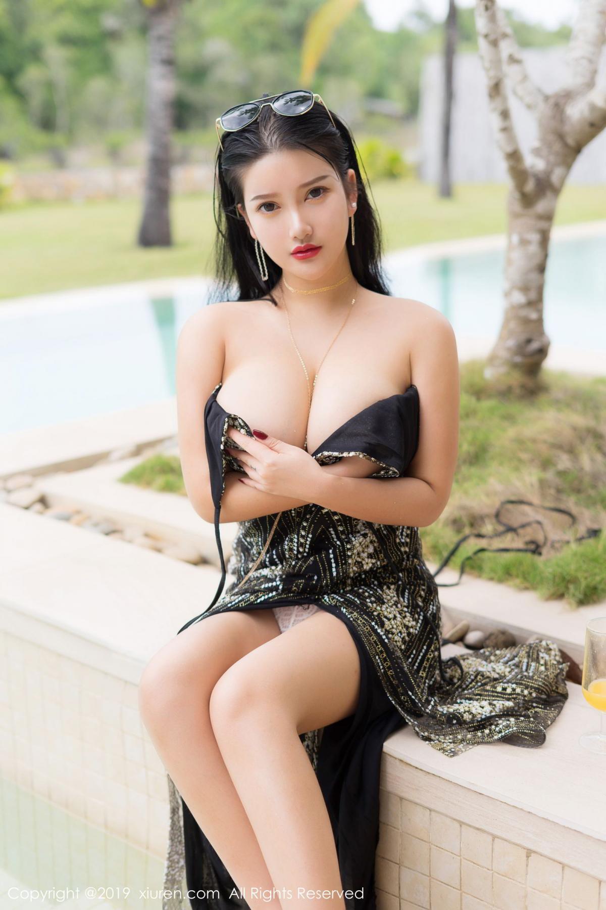[XiuRen] Vol.1726 Lu Lu Xiao Miao 25P, Lu Lu Xiao Miao, Outdoor, Swim Pool, Xiuren