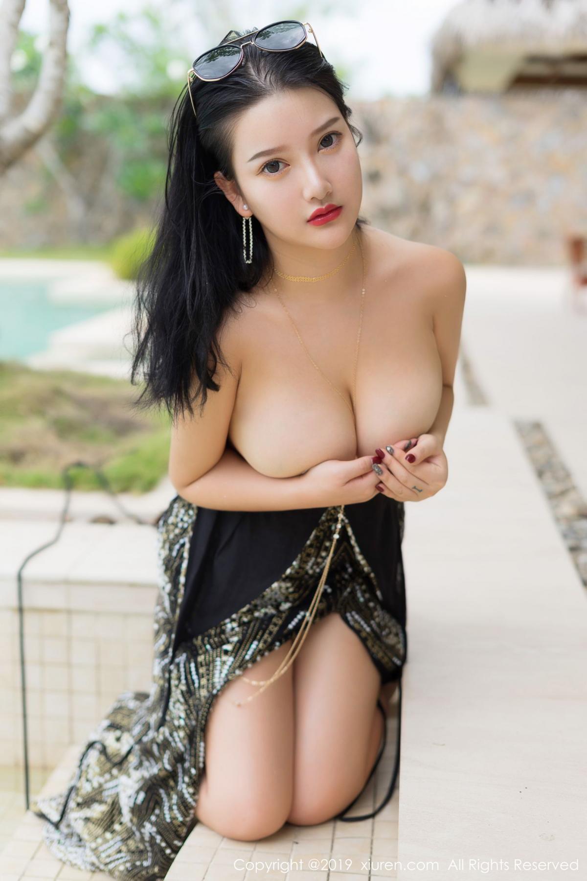 [XiuRen] Vol.1726 Lu Lu Xiao Miao 32P, Lu Lu Xiao Miao, Outdoor, Swim Pool, Xiuren