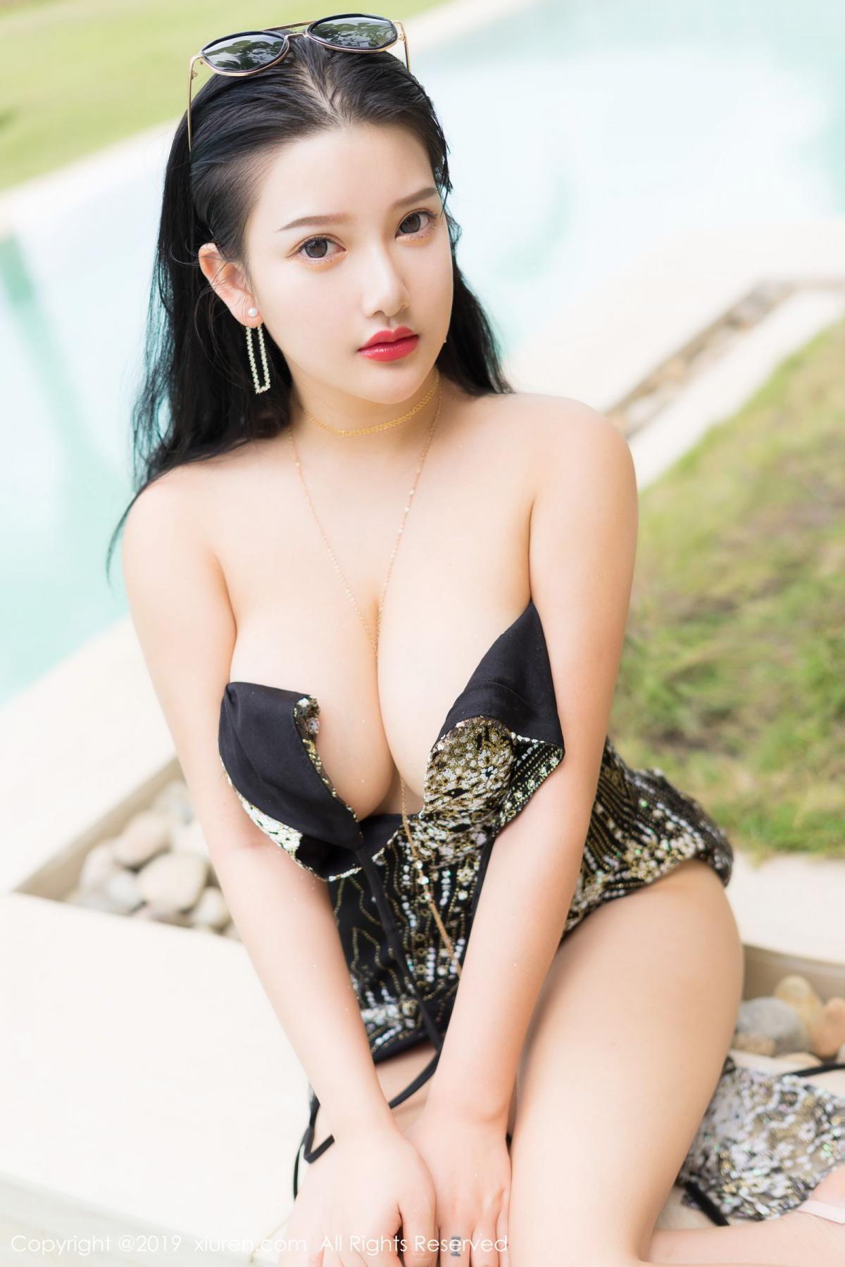[XiuRen] Vol.1726 Lu Lu Xiao Miao 36P, Lu Lu Xiao Miao, Outdoor, Swim Pool, Xiuren