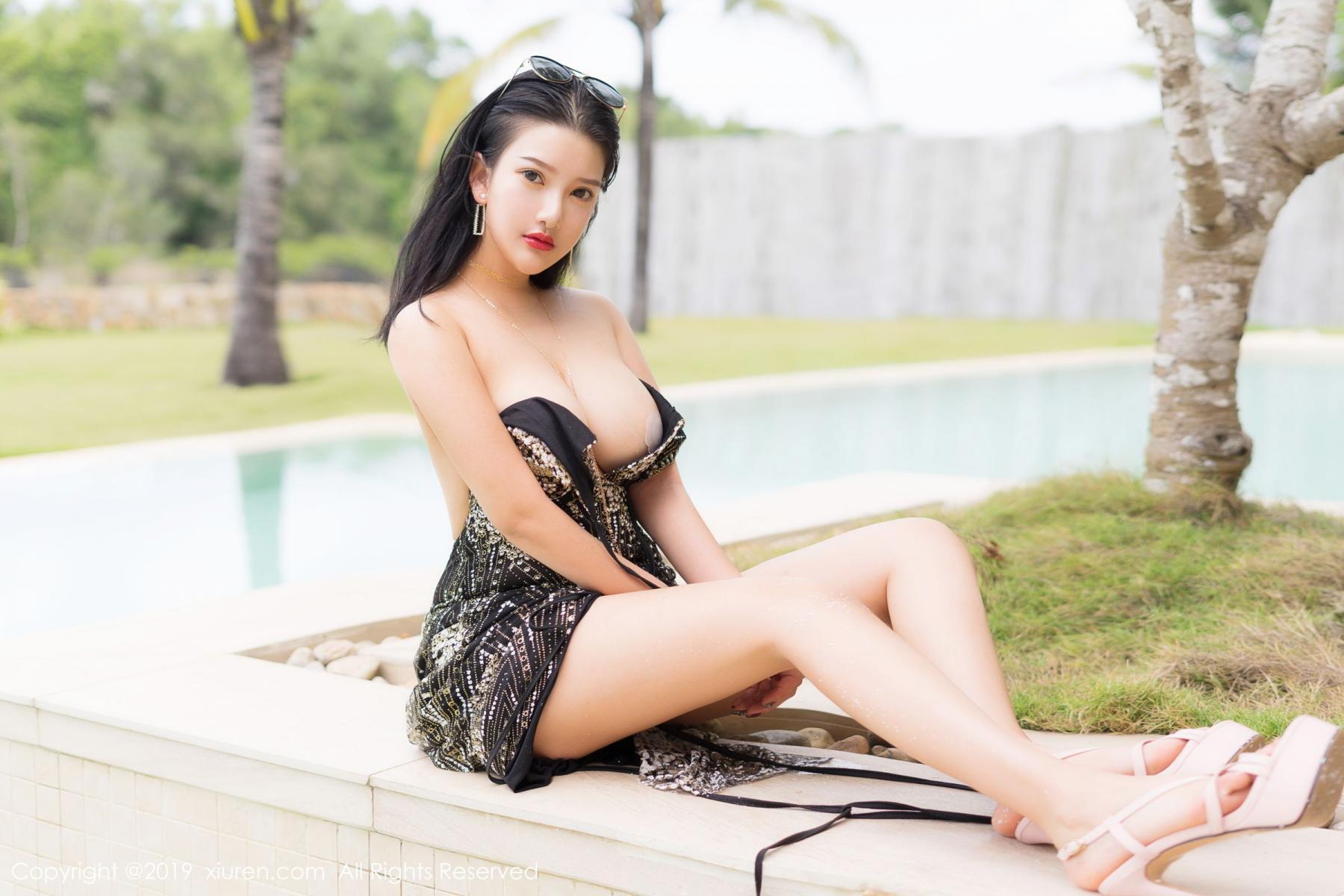 [XiuRen] Vol.1726 Lu Lu Xiao Miao 38P, Lu Lu Xiao Miao, Outdoor, Swim Pool, Xiuren