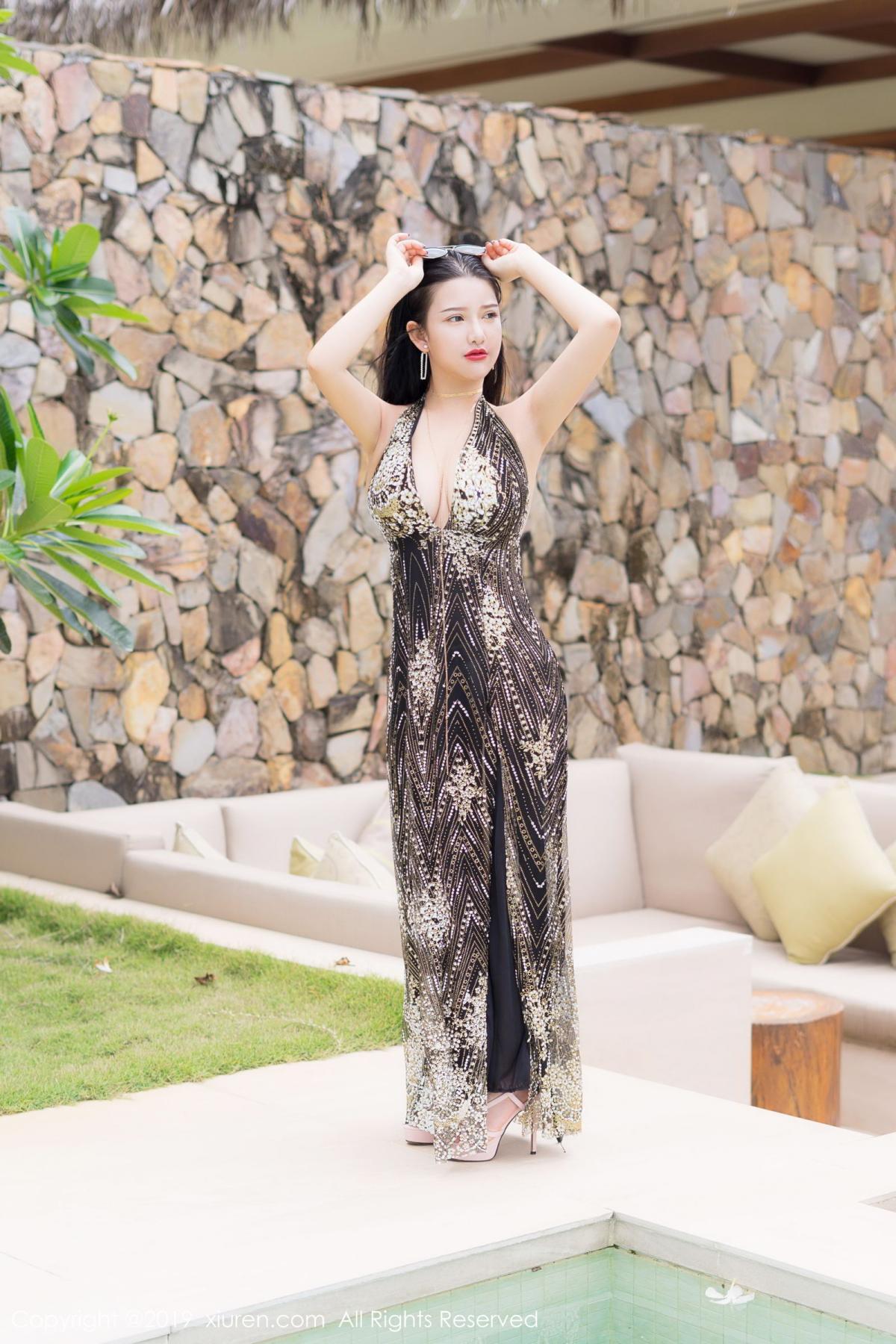 [XiuRen] Vol.1726 Lu Lu Xiao Miao 9P, Lu Lu Xiao Miao, Outdoor, Swim Pool, Xiuren