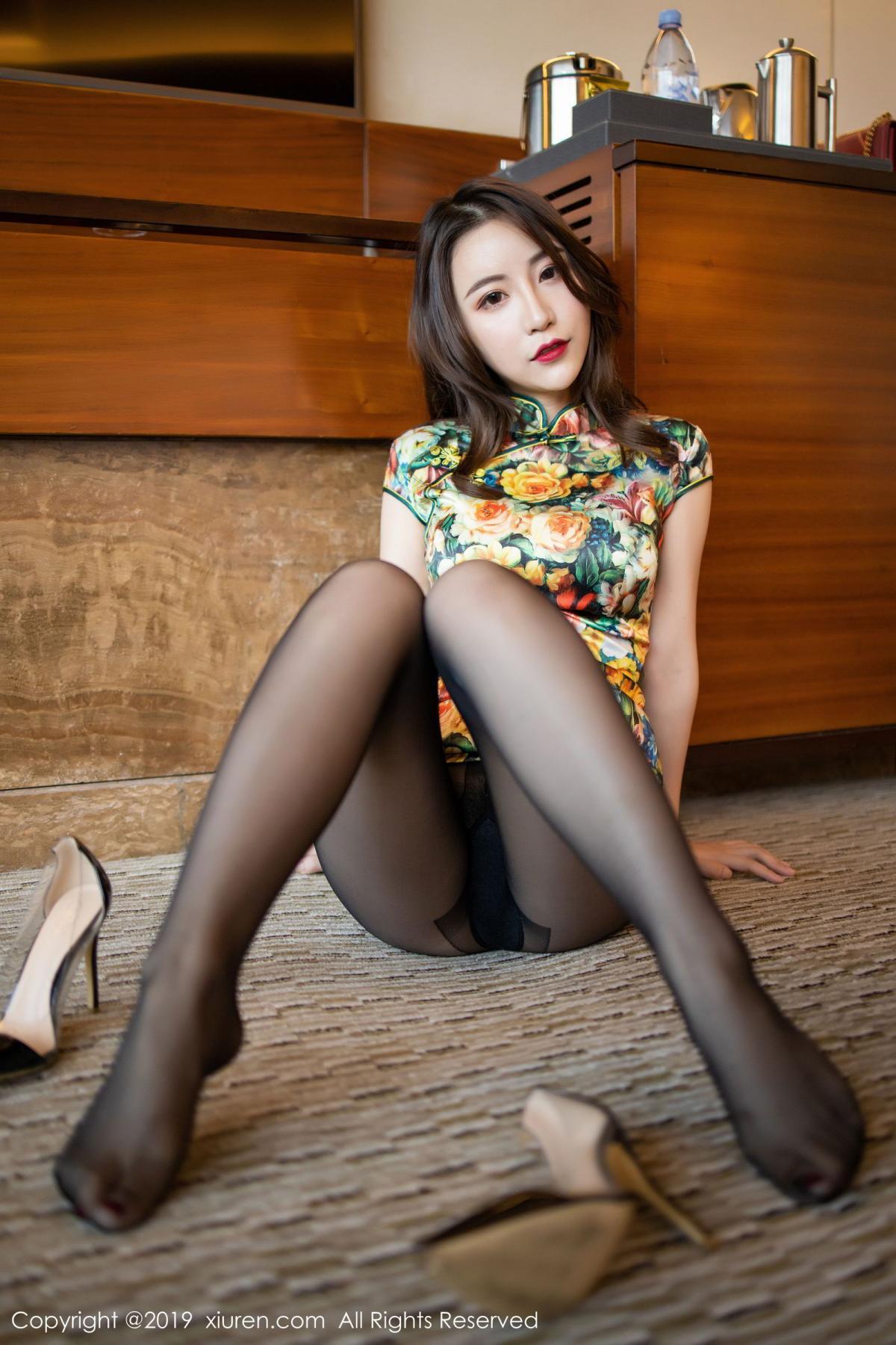 [XiuRen] Vol.1727 Xie Zhi Xin 47P, Big Booty, Black Silk, Cheongsam, Xie Zhi Xin, Xiuren