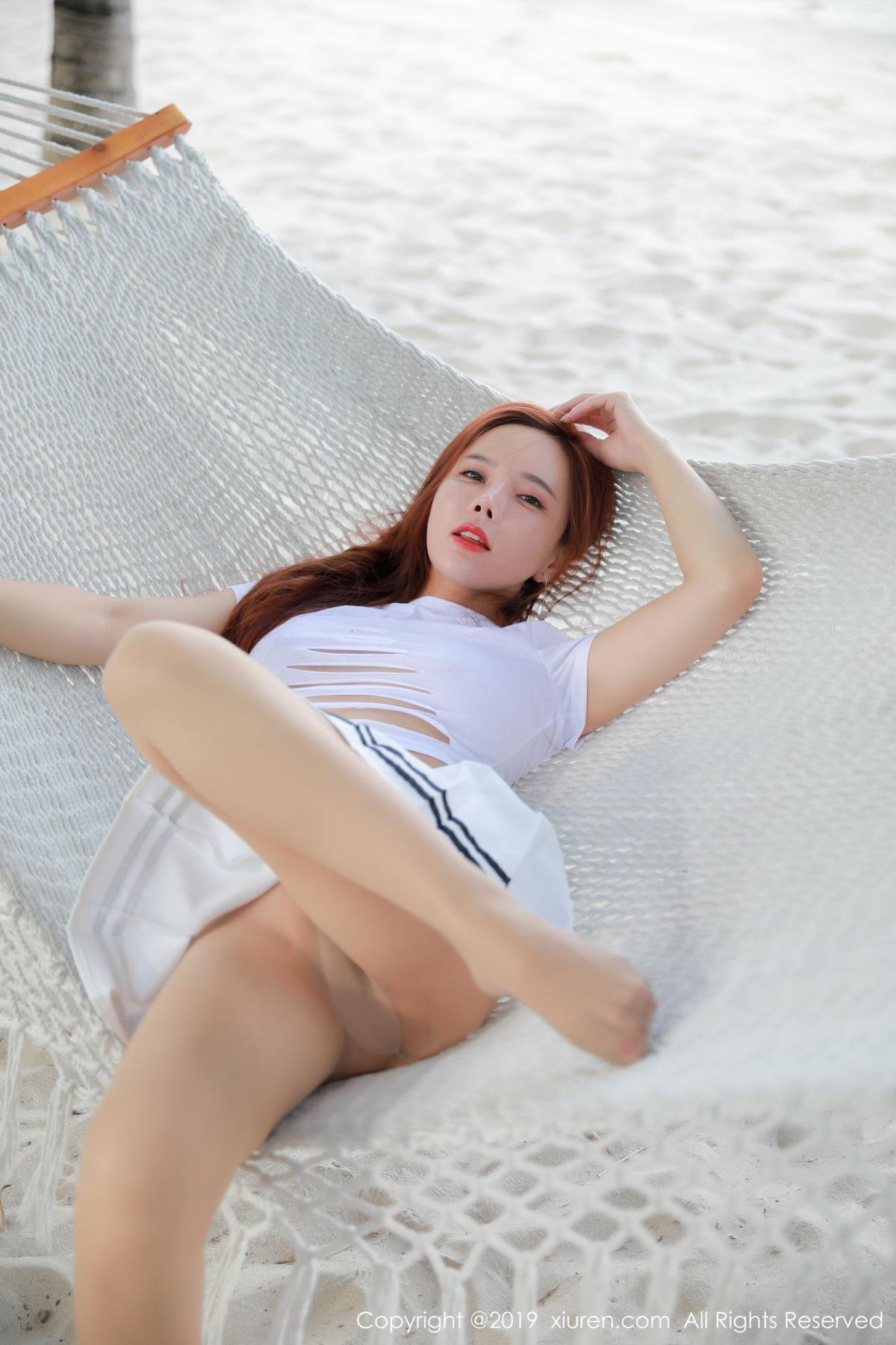 [XiuRen] Vol.1728 Ai Xiao Qing 22P, Ai Xiao Qing, Beach, Xiuren