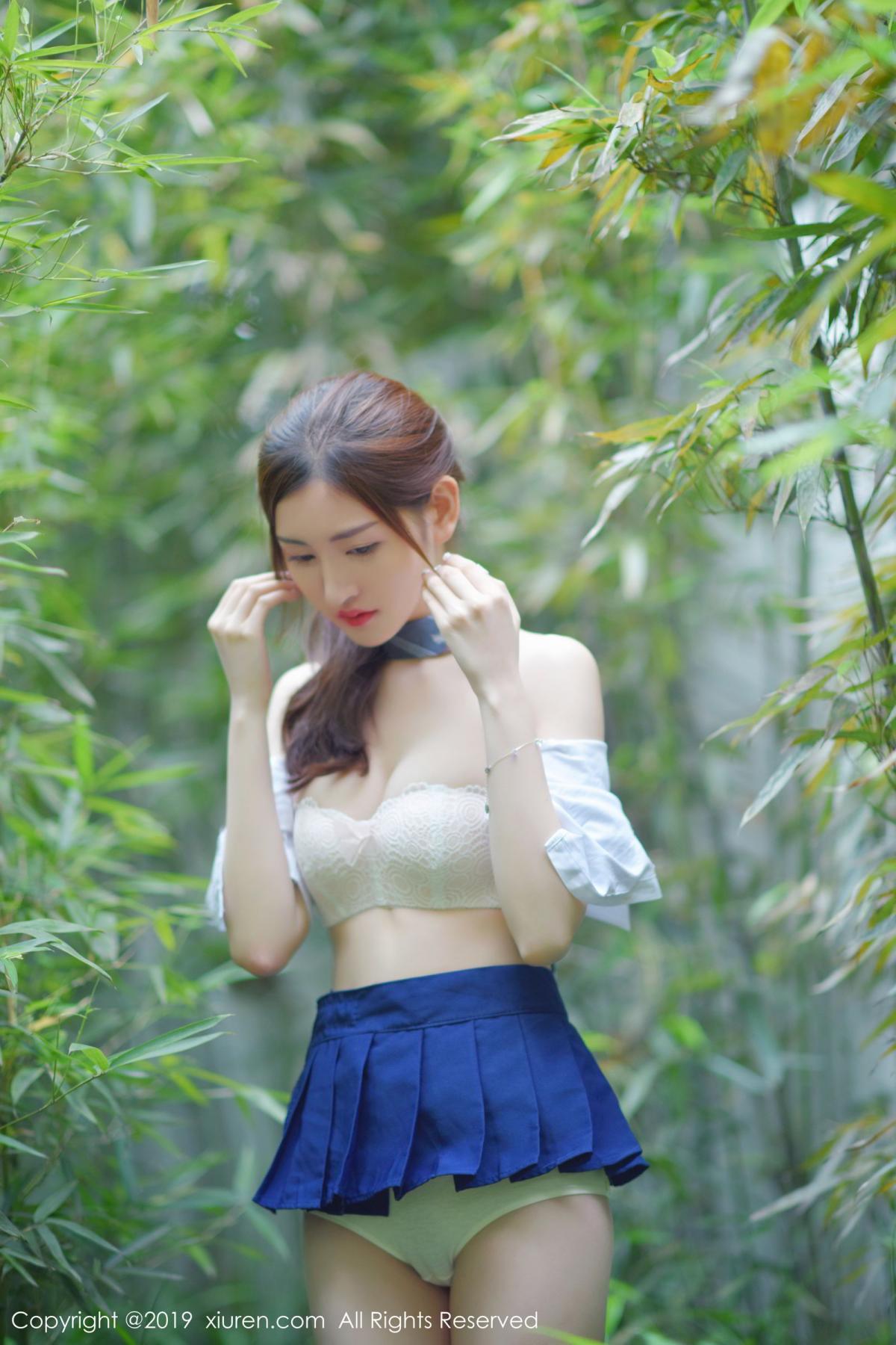 [XiuRen] Vol.1733 Shen Meng Yao 37P, Outdoor, Shen Meng Yao, Underwear, Xiuren