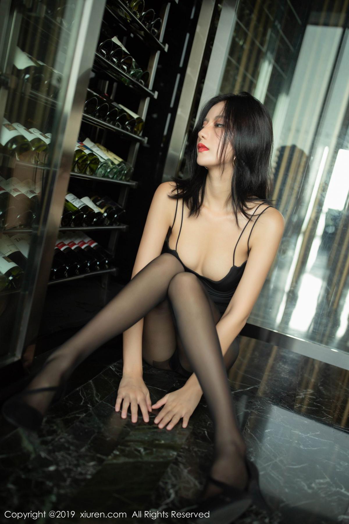 [XiuRen] Vol.1739 Jiu Shi A Zhu 18P, Black Silk, Cool, Jiu Shi A Zhu, Xiuren