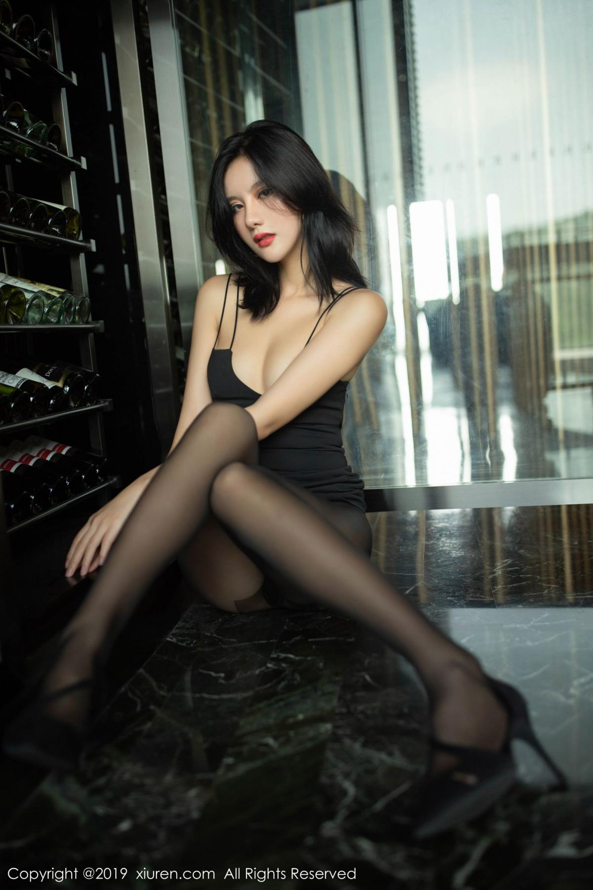 [XiuRen] Vol.1739 Jiu Shi A Zhu 20P, Black Silk, Cool, Jiu Shi A Zhu, Xiuren