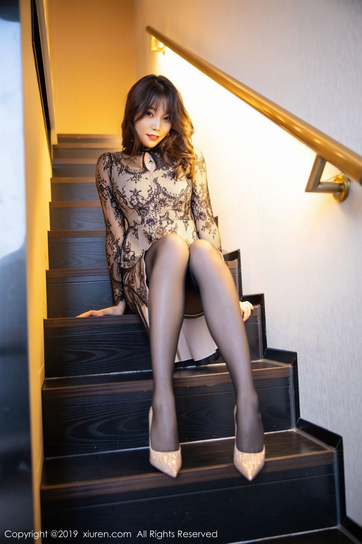 [XiuRen] Vol.1764 Chen Zhi 12P, Big Booty, Black Silk, Chen Zhi, Xiuren