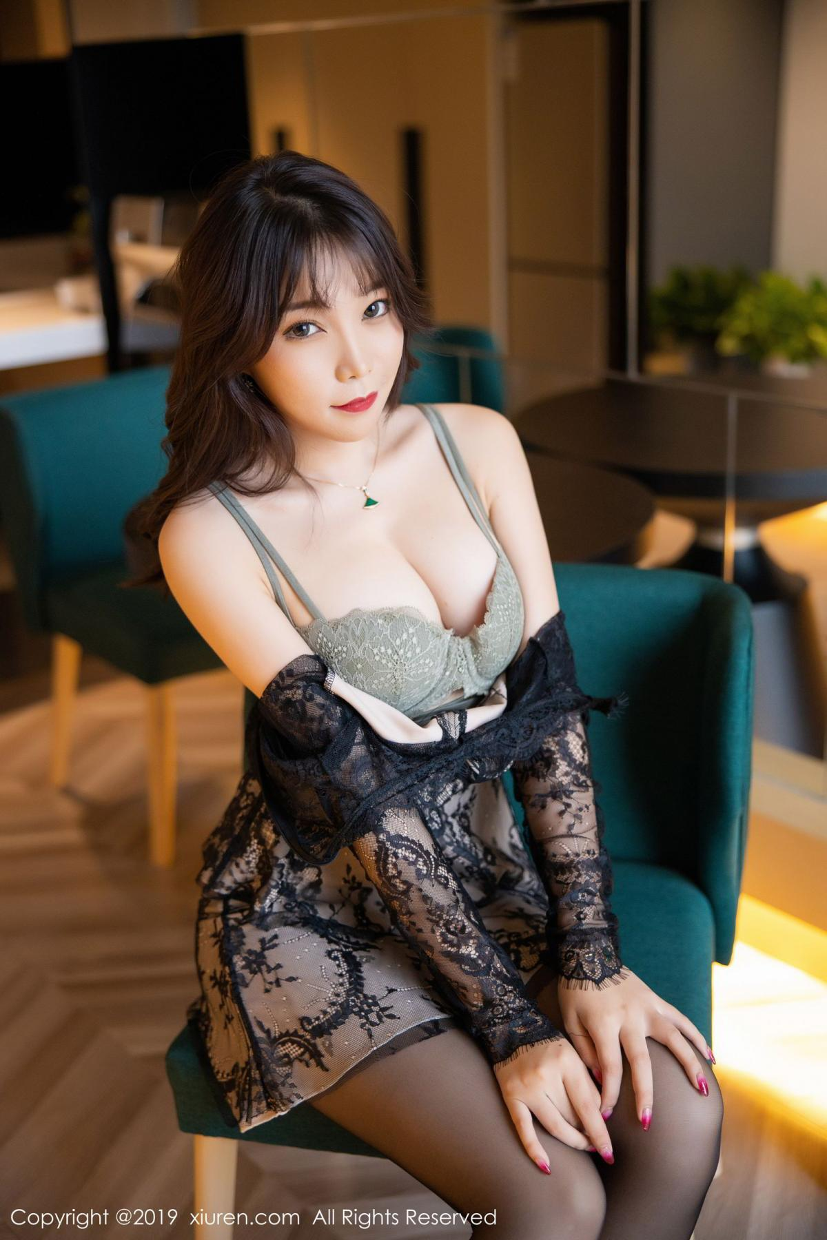 [XiuRen] Vol.1764 Chen Zhi 23P, Big Booty, Black Silk, Chen Zhi, Xiuren
