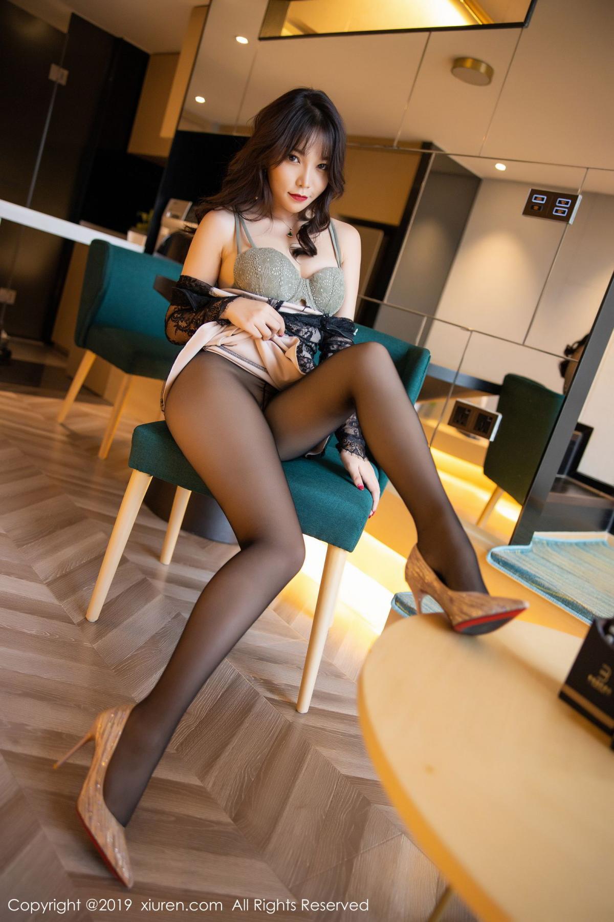 [XiuRen] Vol.1764 Chen Zhi 28P, Big Booty, Black Silk, Chen Zhi, Xiuren