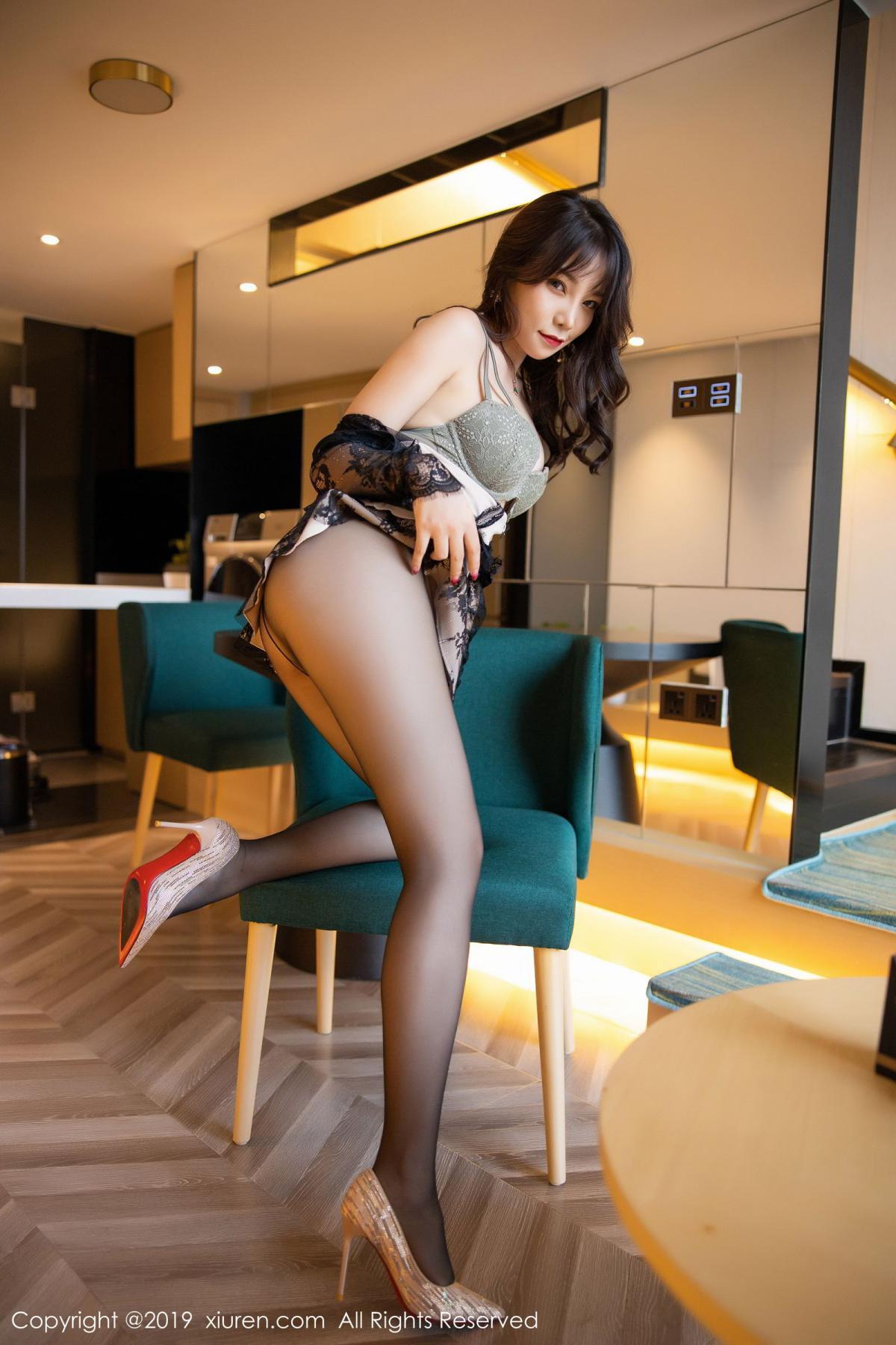 [XiuRen] Vol.1764 Chen Zhi 30P, Big Booty, Black Silk, Chen Zhi, Xiuren