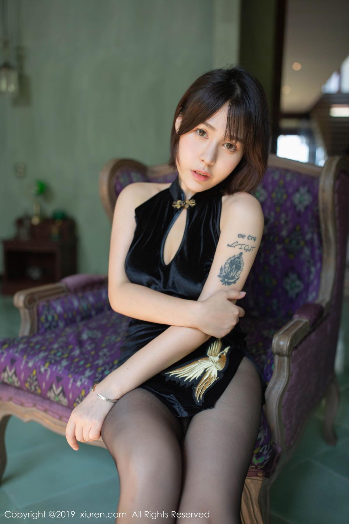[XiuRen] Vol.1773 Evelyn Ai Li 12P, Black Silk, Cheongsam, Evelyn Ai Li, Xiuren