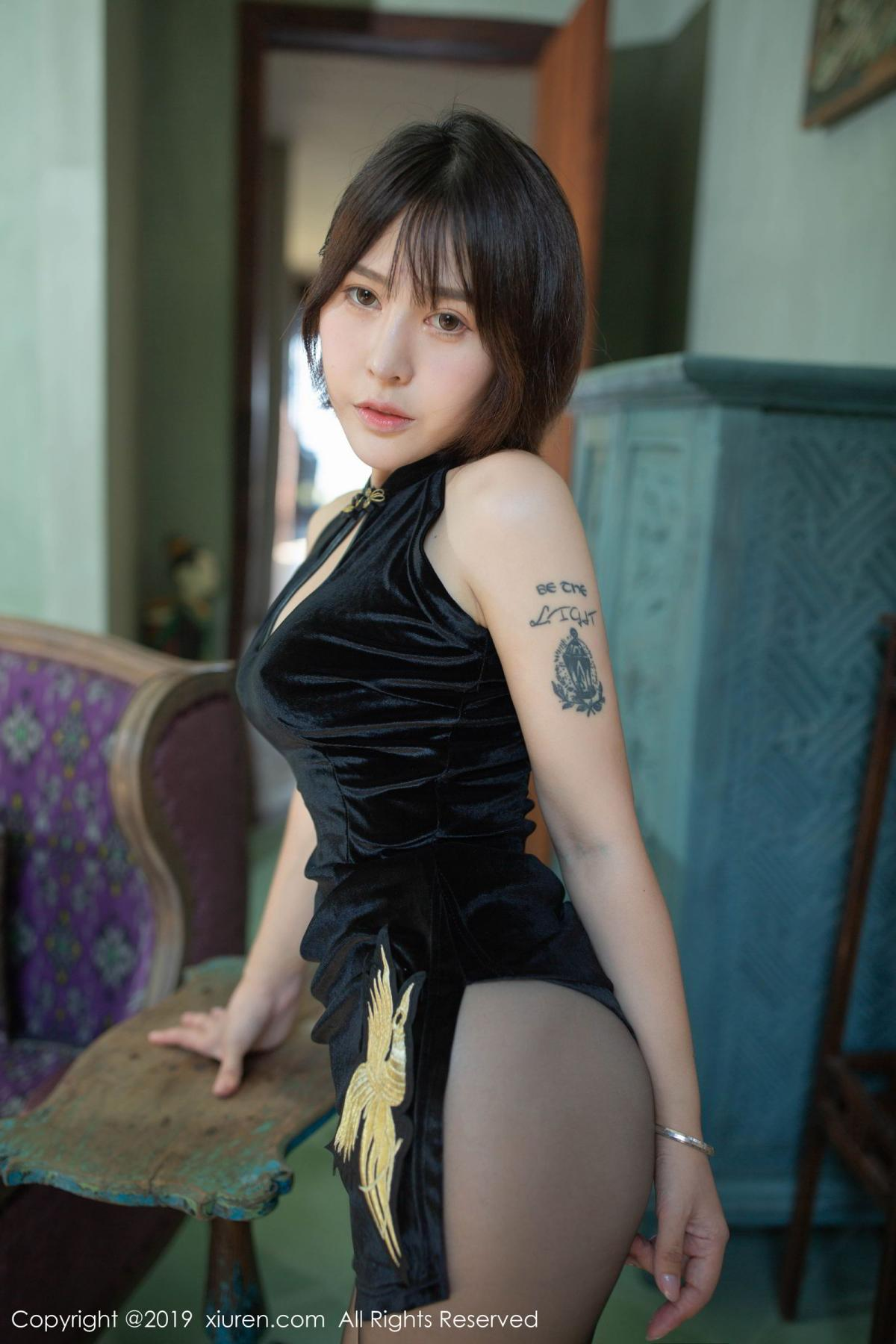 [XiuRen] Vol.1773 Evelyn Ai Li 24P, Black Silk, Cheongsam, Evelyn Ai Li, Xiuren