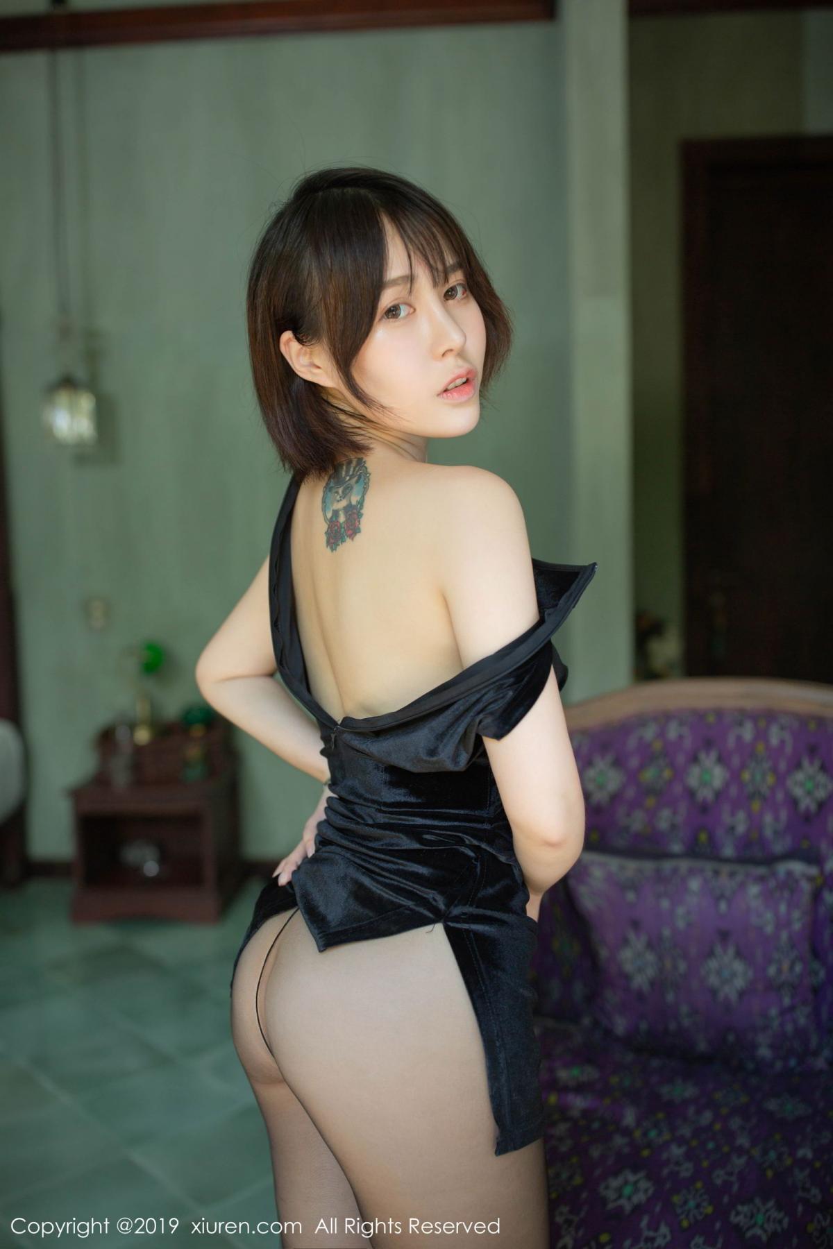 [XiuRen] Vol.1773 Evelyn Ai Li 27P, Black Silk, Cheongsam, Evelyn Ai Li, Xiuren