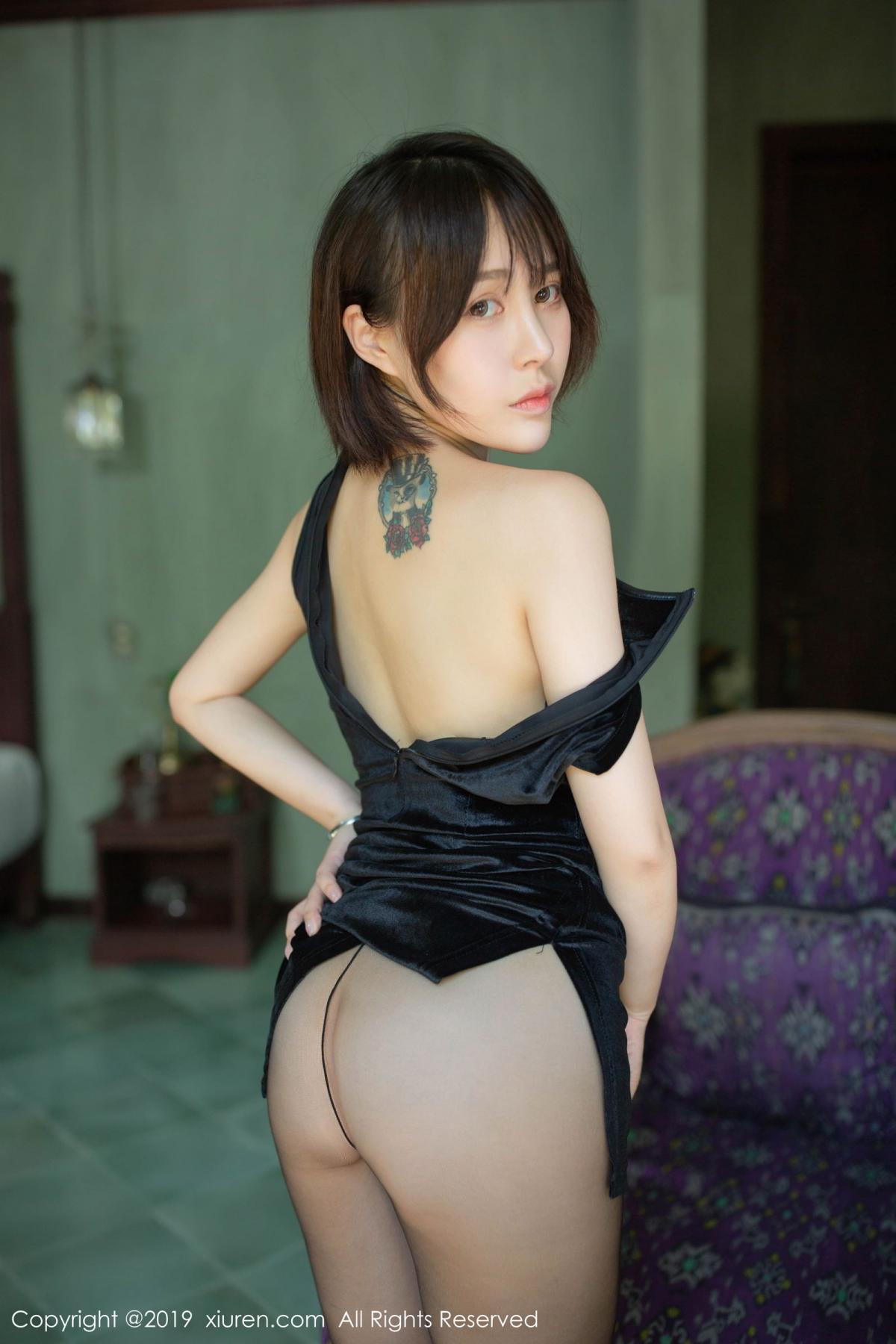 [XiuRen] Vol.1773 Evelyn Ai Li 28P, Black Silk, Cheongsam, Evelyn Ai Li, Xiuren