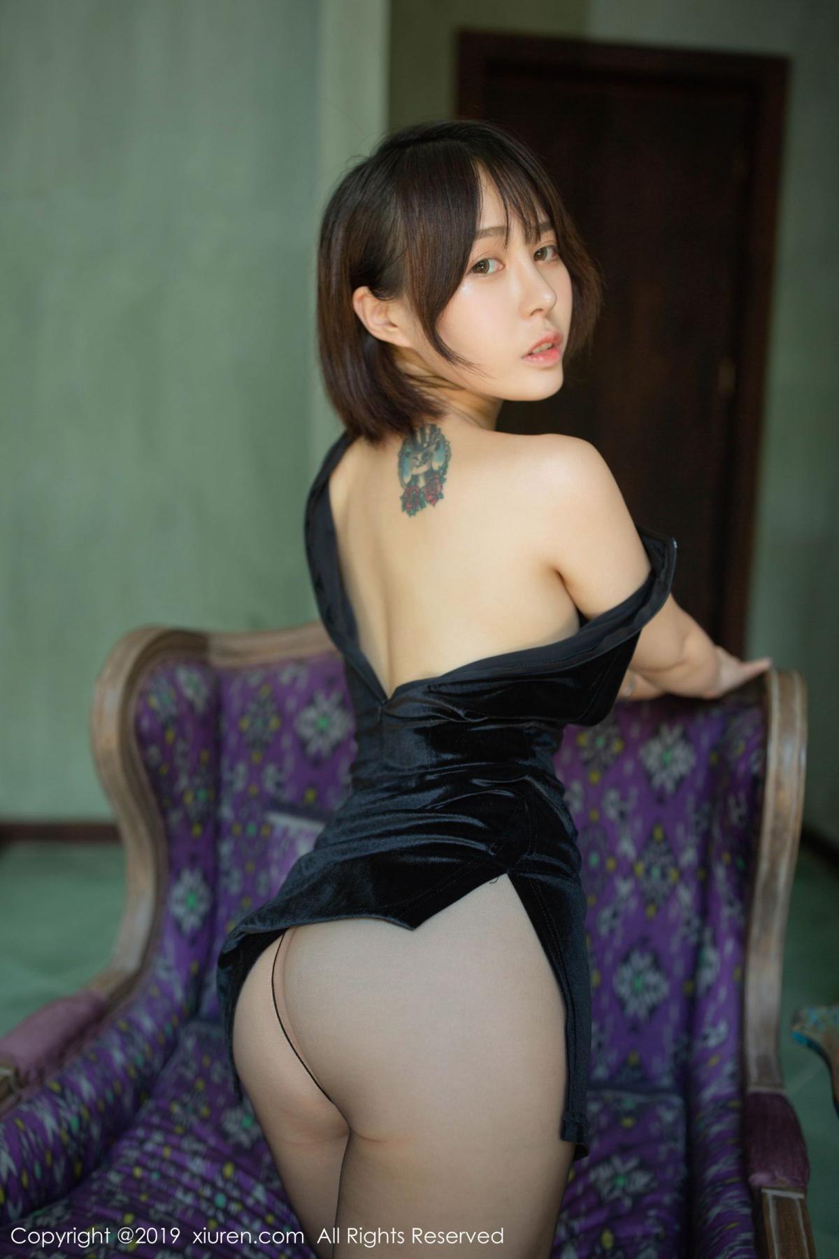 [XiuRen] Vol.1773 Evelyn Ai Li 30P, Black Silk, Cheongsam, Evelyn Ai Li, Xiuren