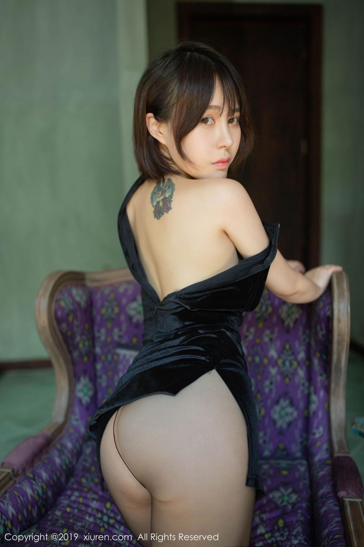[XiuRen] Vol.1773 Evelyn Ai Li 31P, Black Silk, Cheongsam, Evelyn Ai Li, Xiuren
