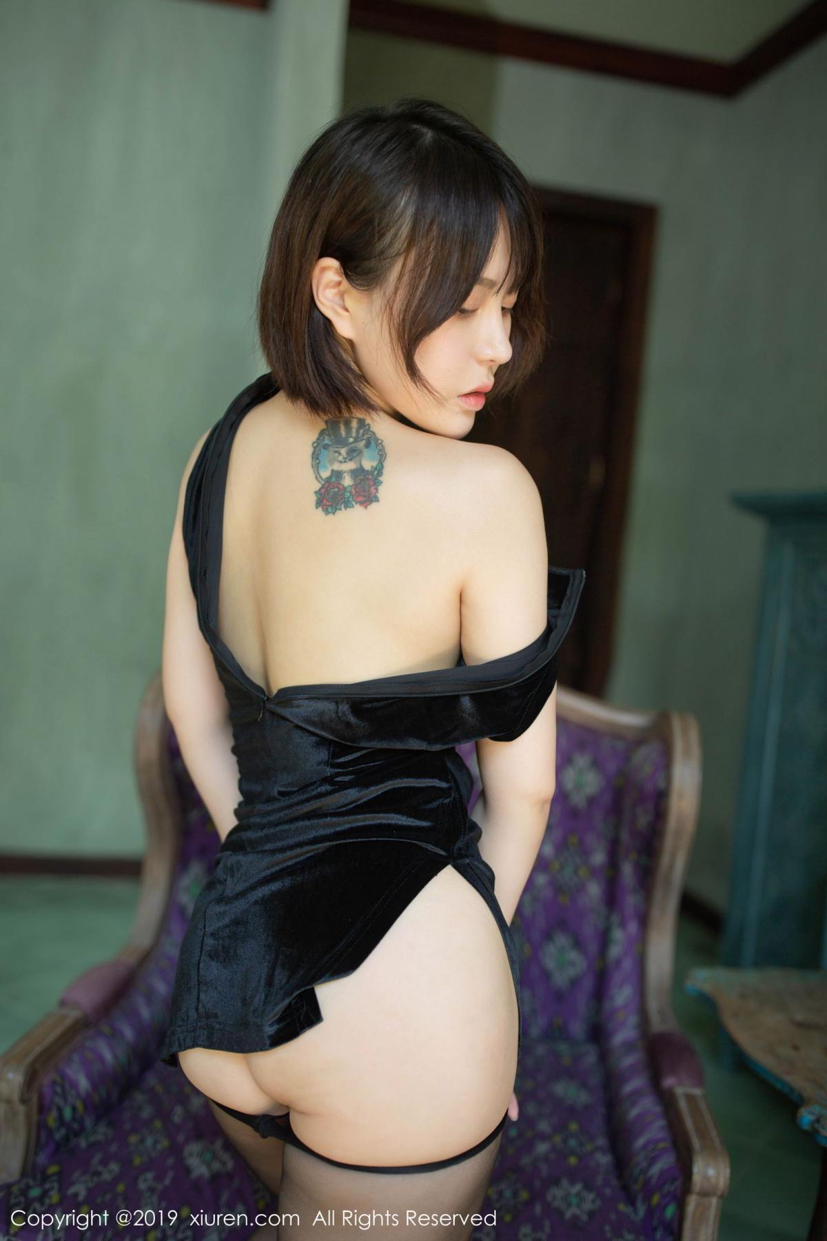 [XiuRen] Vol.1773 Evelyn Ai Li 32P, Black Silk, Cheongsam, Evelyn Ai Li, Xiuren