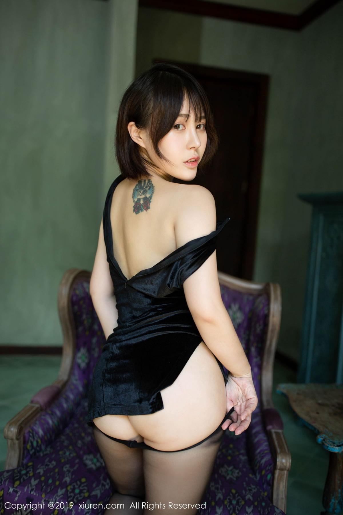 [XiuRen] Vol.1773 Evelyn Ai Li 33P, Black Silk, Cheongsam, Evelyn Ai Li, Xiuren