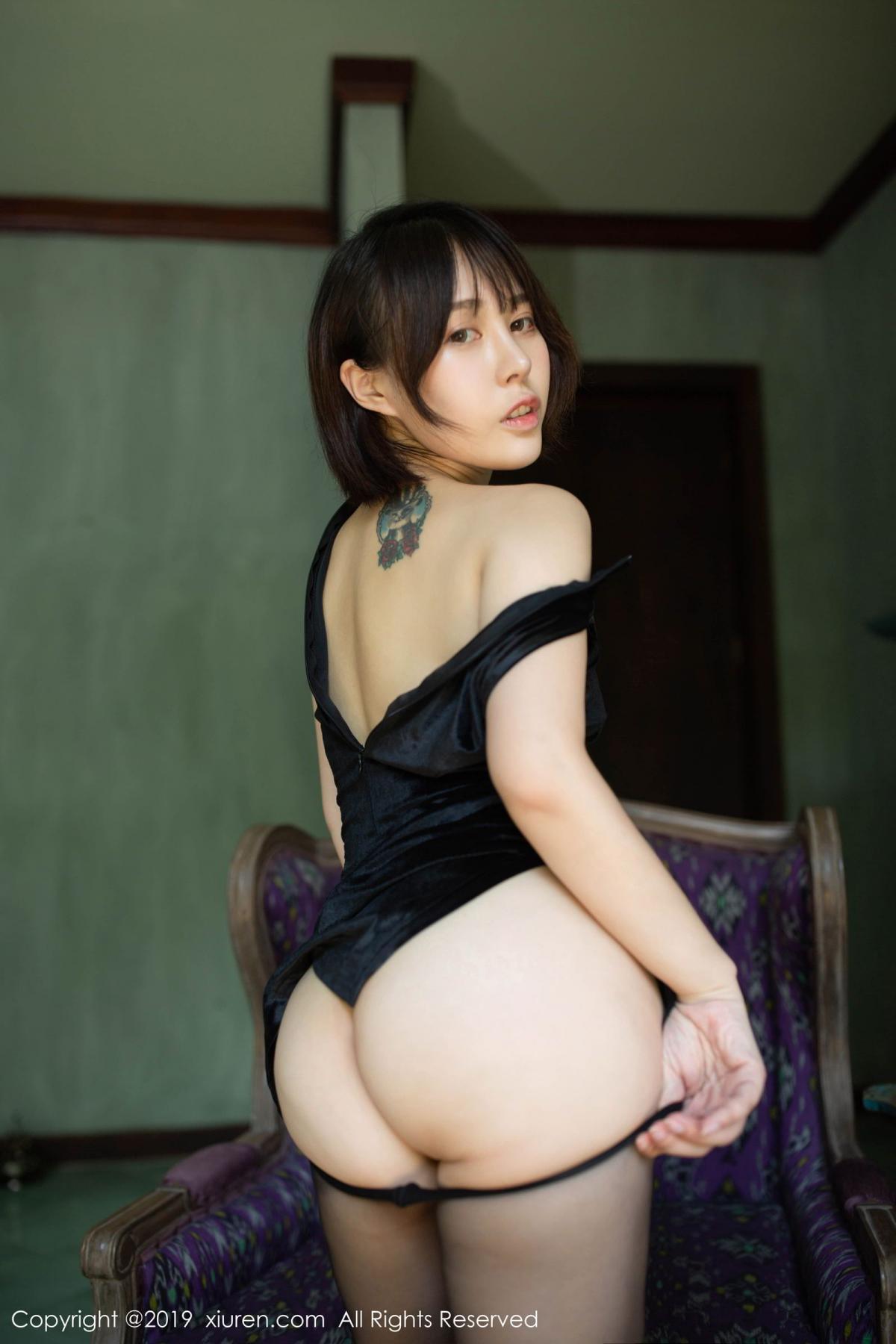 [XiuRen] Vol.1773 Evelyn Ai Li 34P, Black Silk, Cheongsam, Evelyn Ai Li, Xiuren