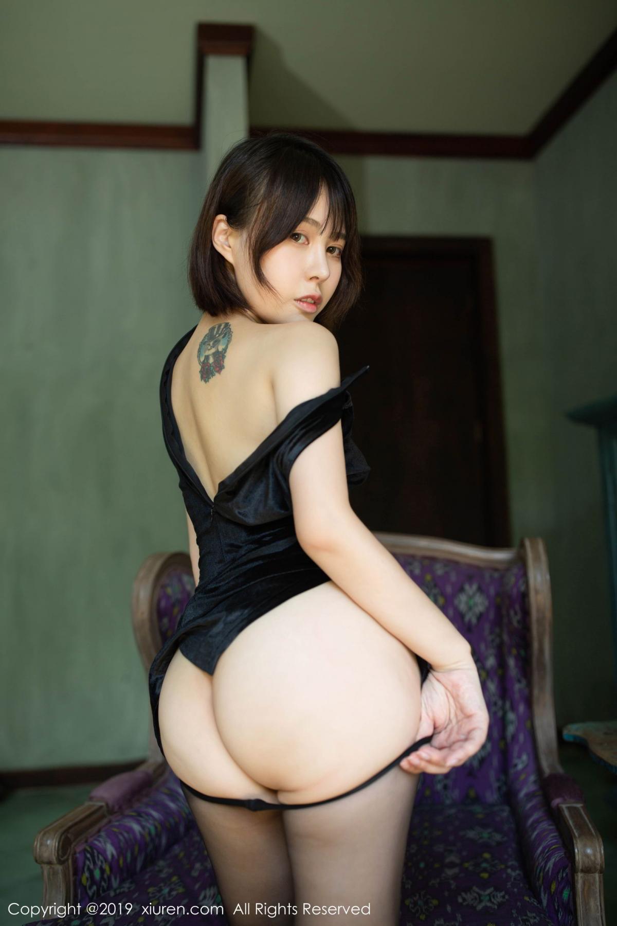 [XiuRen] Vol.1773 Evelyn Ai Li 35P, Black Silk, Cheongsam, Evelyn Ai Li, Xiuren