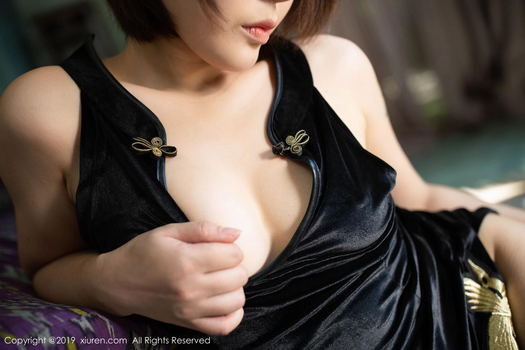 [XiuRen] Vol.1773 Evelyn Ai Li 43P, Black Silk, Cheongsam, Evelyn Ai Li, Xiuren