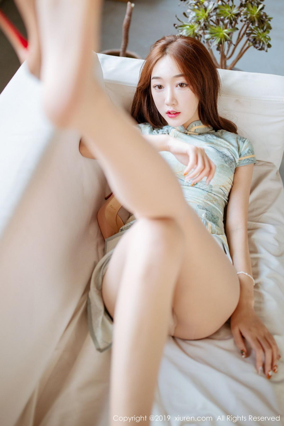 [XiuRen] Vol.1777 Xiao Jiu Yue 5P, Cheongsam, Xiao Jiu Yue, Xiuren