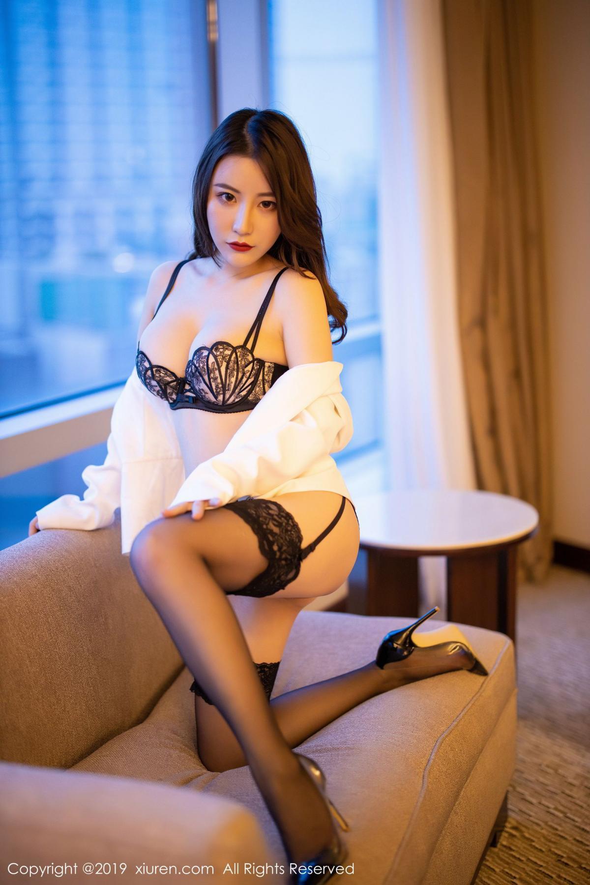 [XiuRen] Vol.1779 Xie Zhi Xin 48P, Black Silk, Tall, Xie Zhi Xin, Xiuren