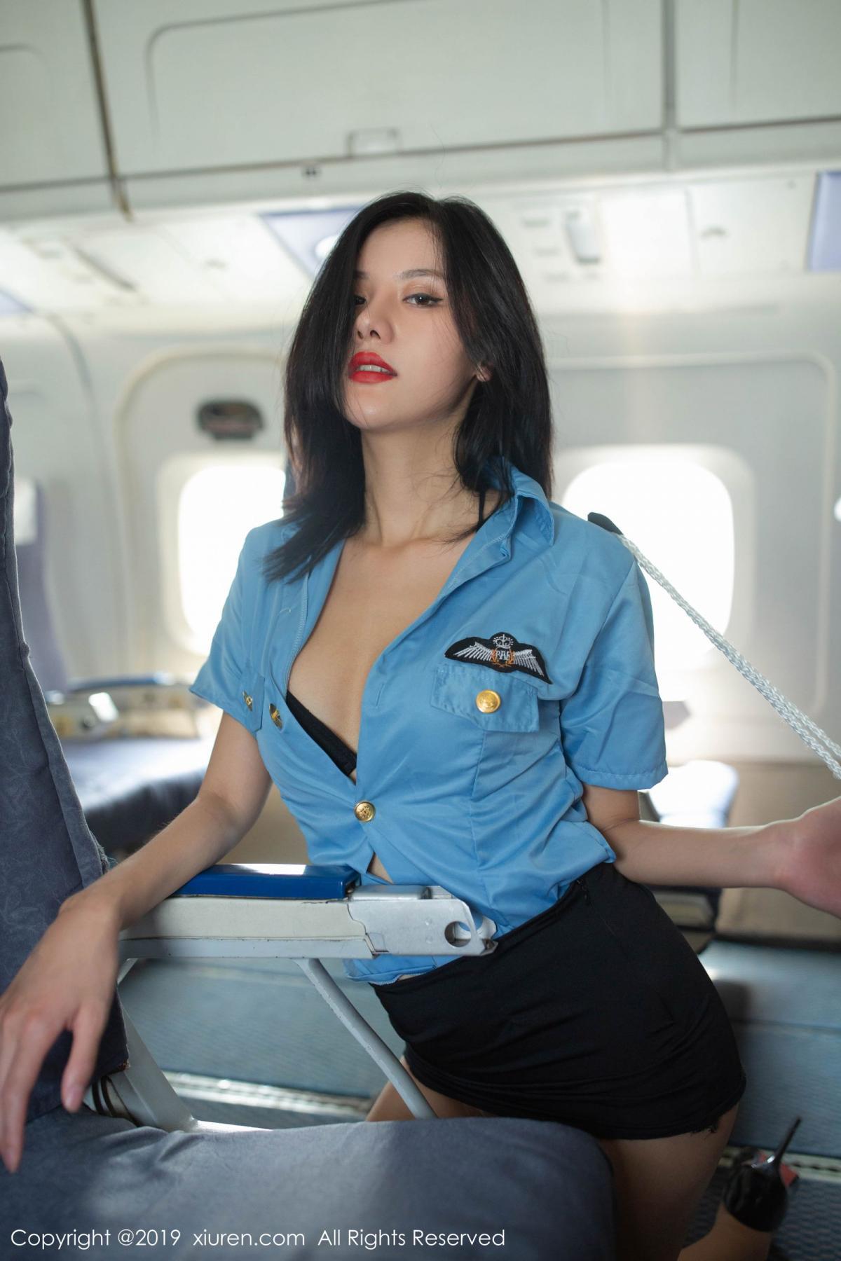 [XiuRen] Vol.1781 Jiu Shi A Zhu 43P, Jiu Shi A Zhu, Stewardess, Uniform, Xiuren