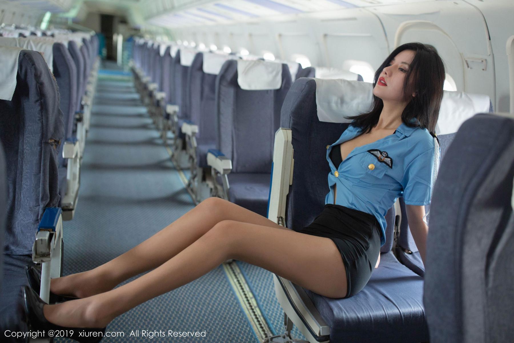 [XiuRen] Vol.1781 Jiu Shi A Zhu 48P, Jiu Shi A Zhu, Stewardess, Uniform, Xiuren