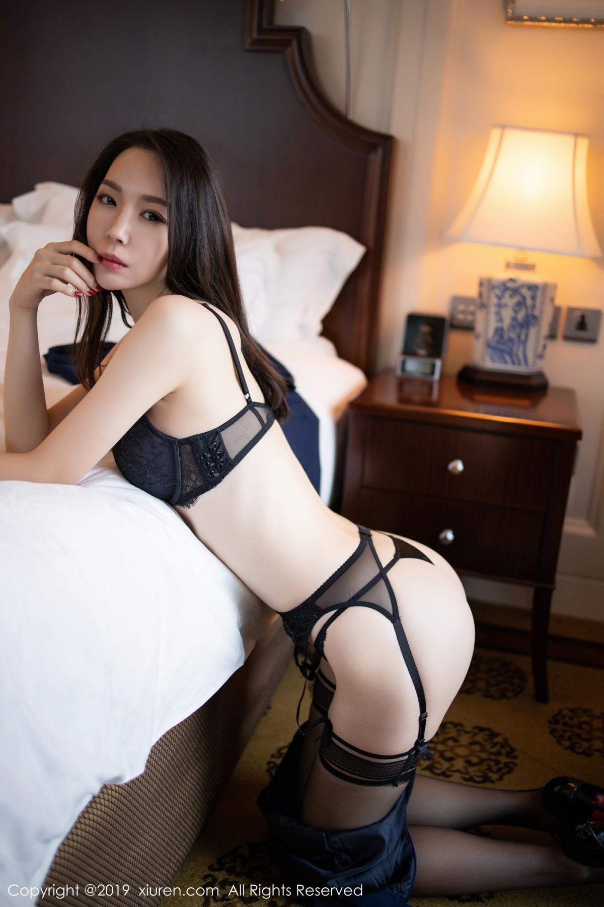 [XiuRen] Vol.1787 Meng Xin Yue 1P, Black Silk, Meng Xin Yue, Underwear, Xiuren
