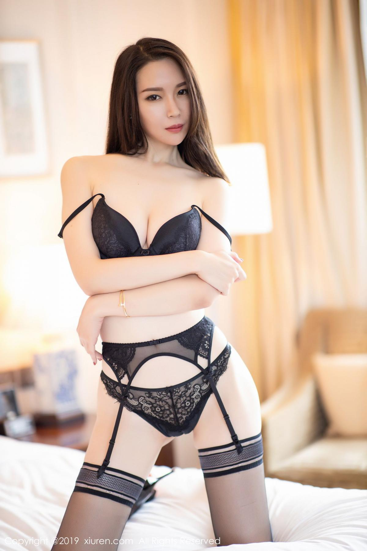 [XiuRen] Vol.1787 Meng Xin Yue 26P, Black Silk, Meng Xin Yue, Underwear, Xiuren