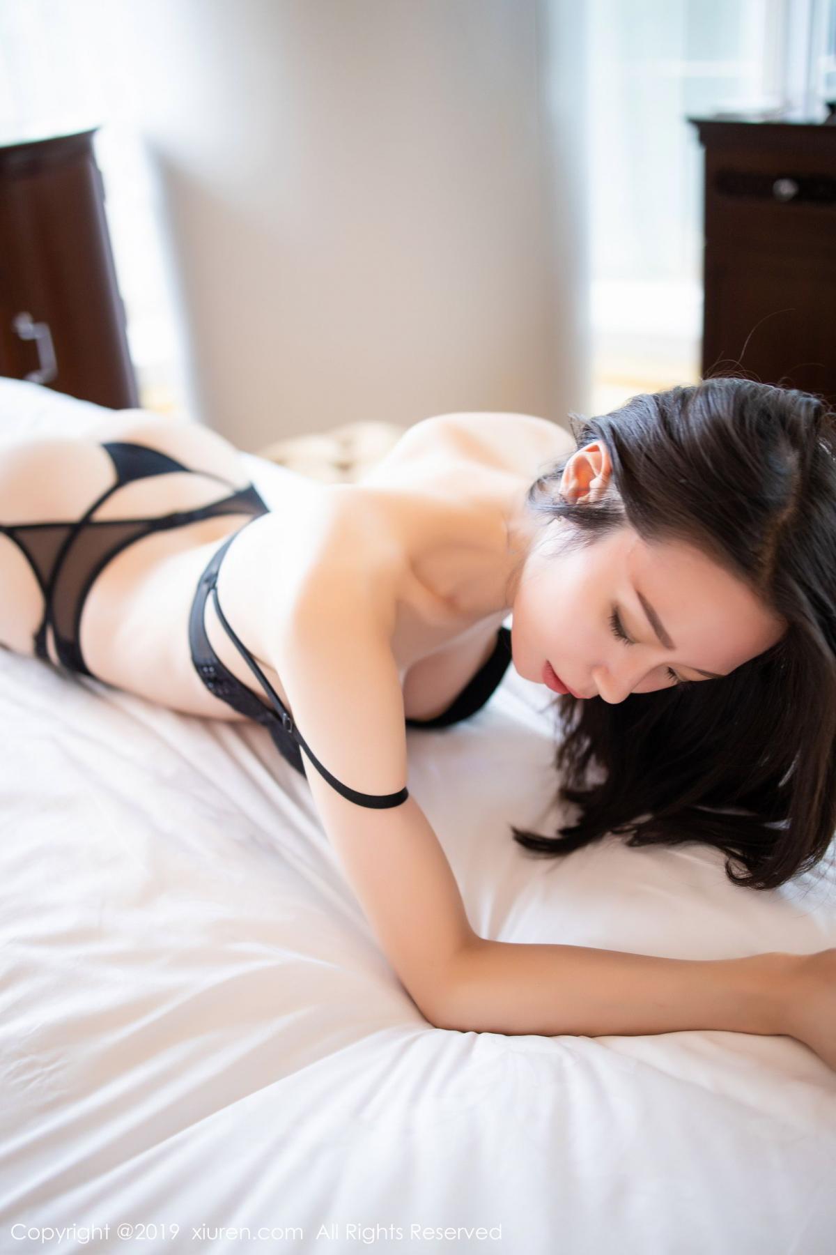 [XiuRen] Vol.1787 Meng Xin Yue 46P, Black Silk, Meng Xin Yue, Underwear, Xiuren