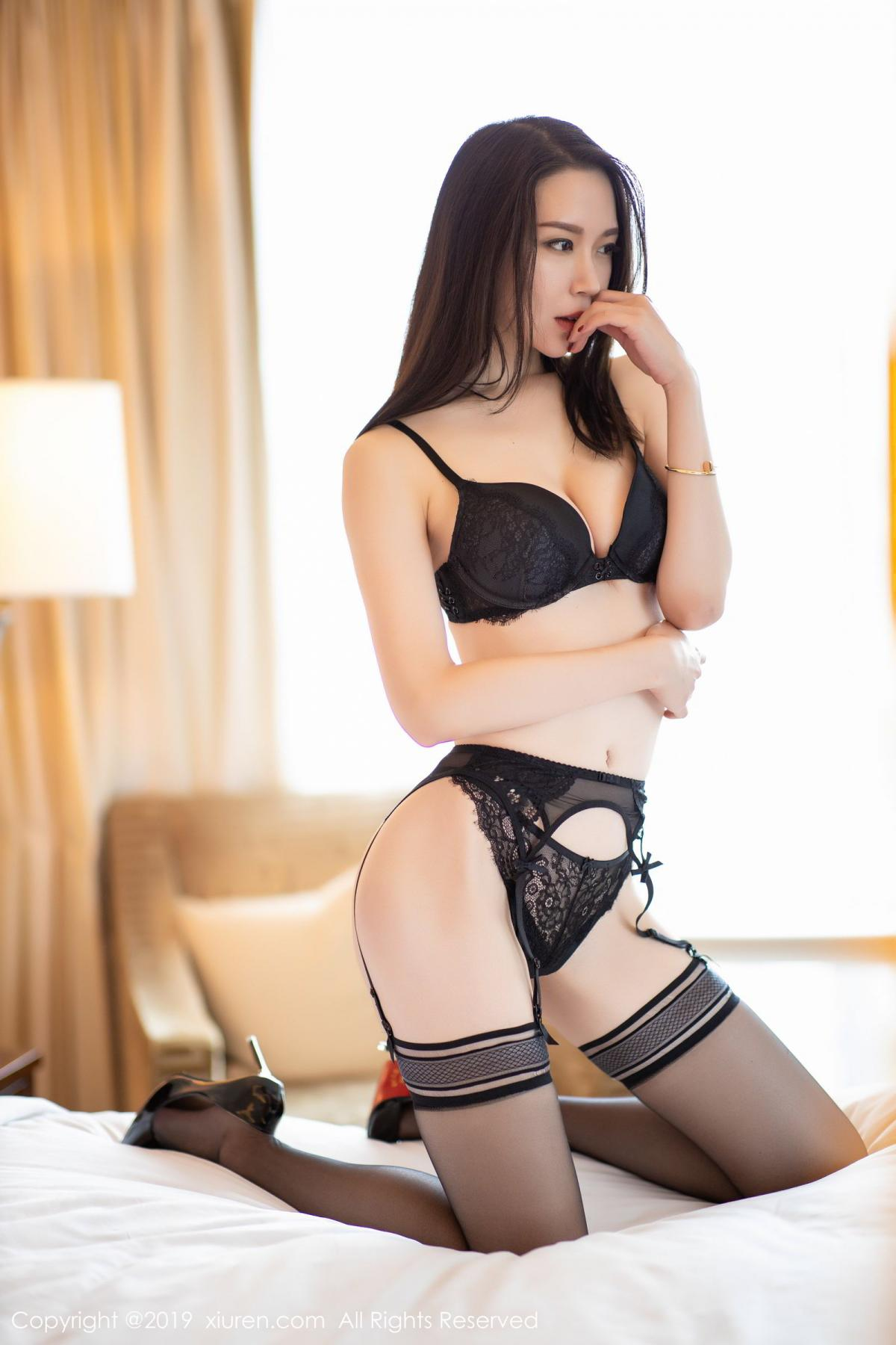 [XiuRen] Vol.1787 Meng Xin Yue 4P, Black Silk, Meng Xin Yue, Underwear, Xiuren