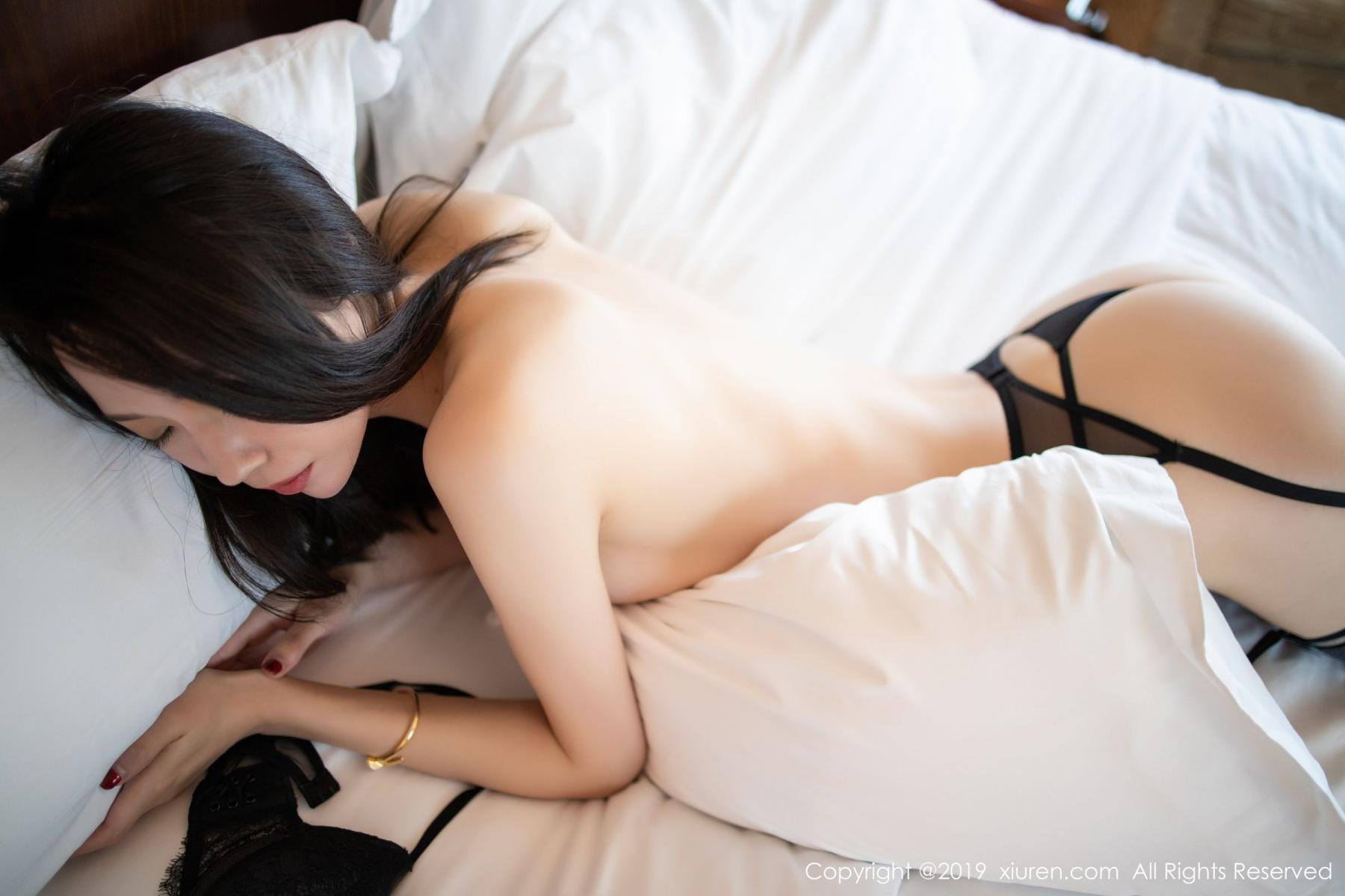 [XiuRen] Vol.1787 Meng Xin Yue 62P, Black Silk, Meng Xin Yue, Underwear, Xiuren