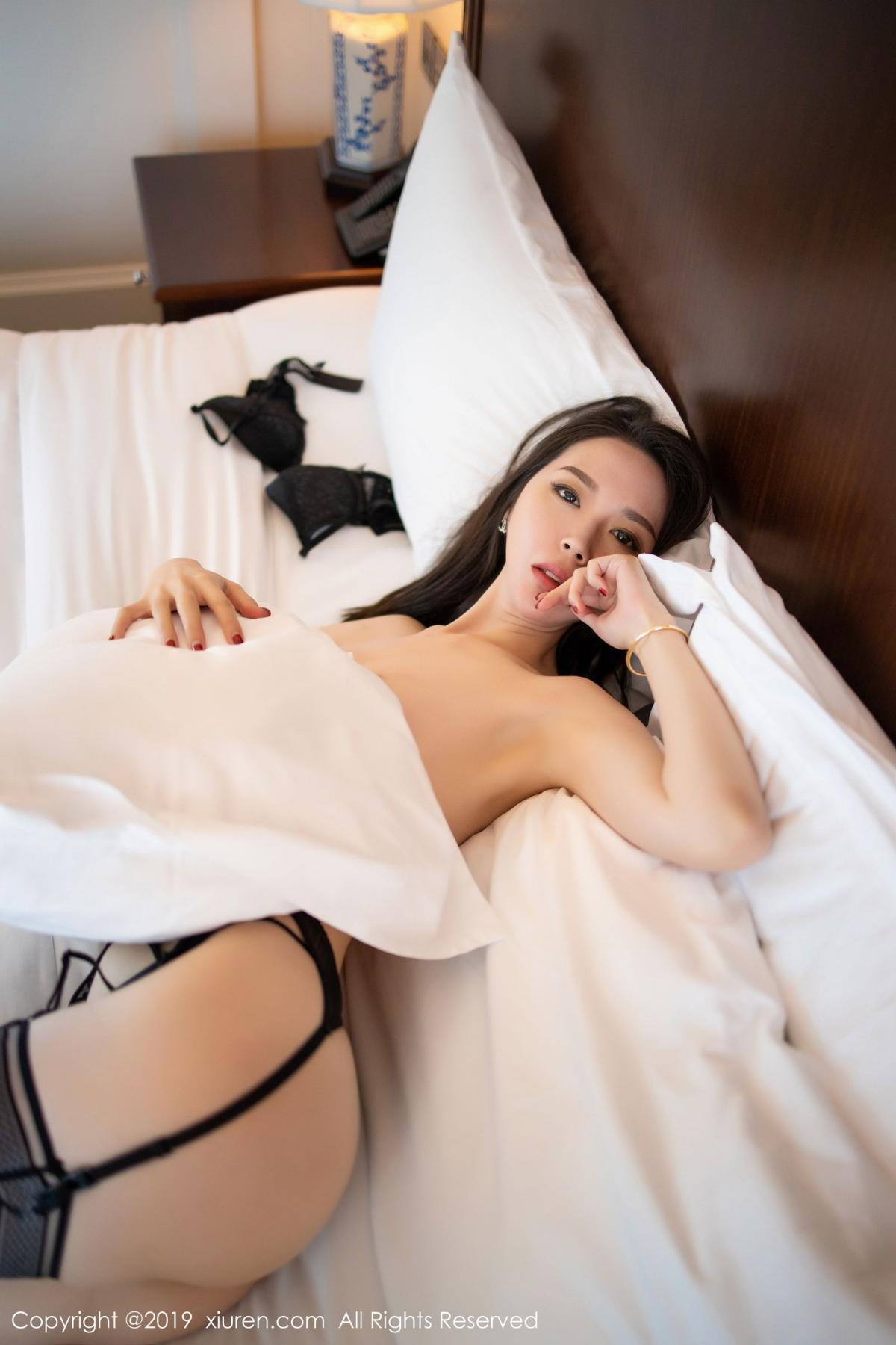 [XiuRen] Vol.1787 Meng Xin Yue 66P, Black Silk, Meng Xin Yue, Underwear, Xiuren