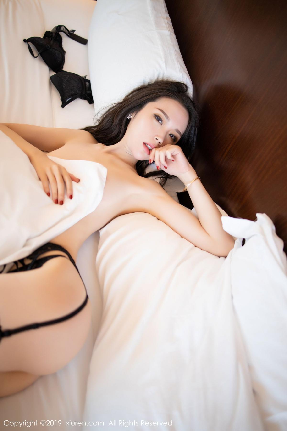 [XiuRen] Vol.1787 Meng Xin Yue 67P, Black Silk, Meng Xin Yue, Underwear, Xiuren