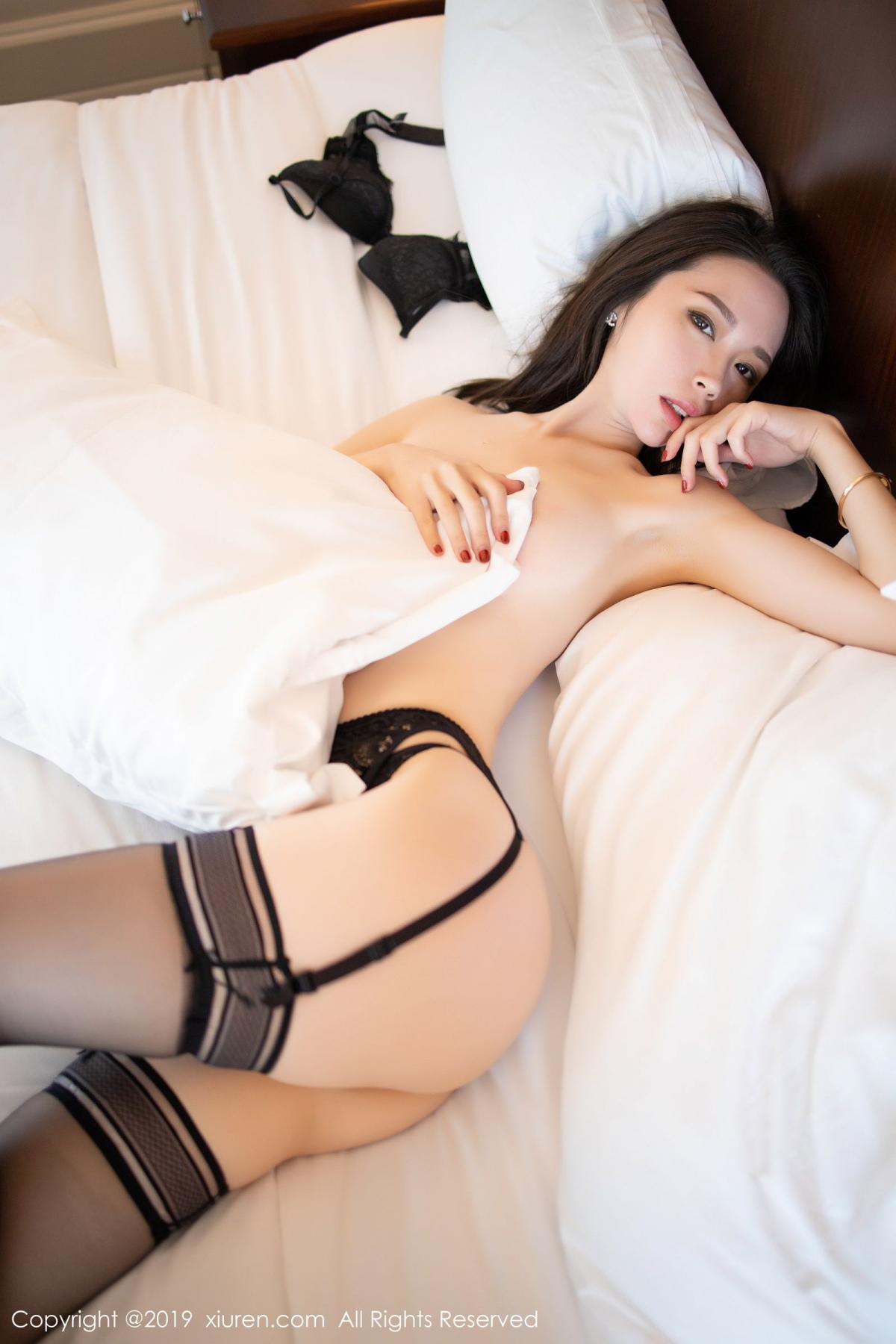 [XiuRen] Vol.1787 Meng Xin Yue 68P, Black Silk, Meng Xin Yue, Underwear, Xiuren