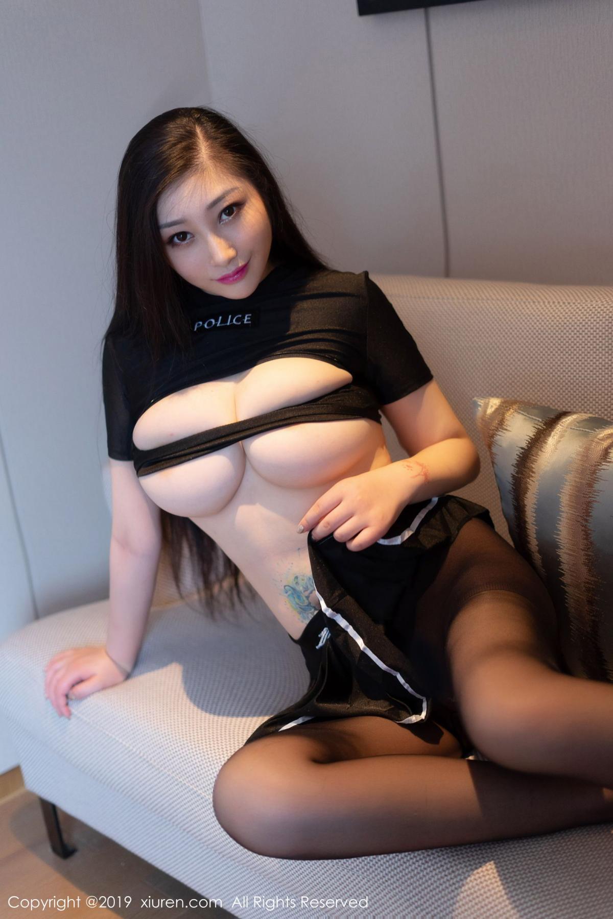 [XiuRen] Vol.1793 Da Ji Toxic 52P, Black Silk, Da Ji Toxic, Underwear, Xiuren