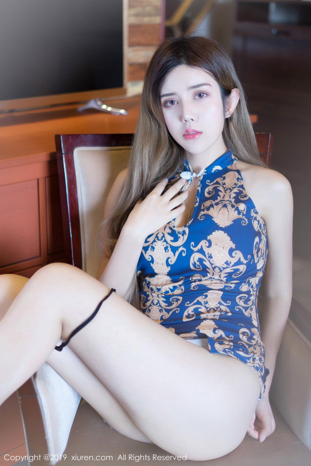 [XiuRen] Vol.1794 Zhuo Ya Qi 13P, Cheongsam, Underwear, Xiuren, Zhuo Ya Qi