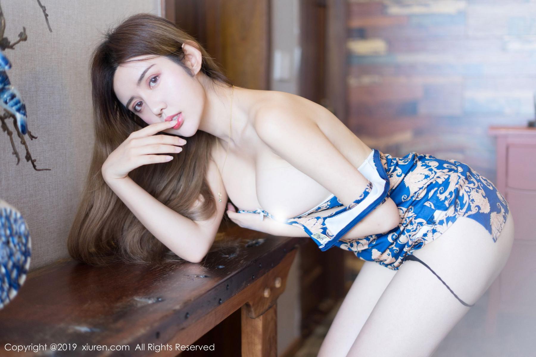 [XiuRen] Vol.1794 Zhuo Ya Qi 20P, Cheongsam, Underwear, Xiuren, Zhuo Ya Qi