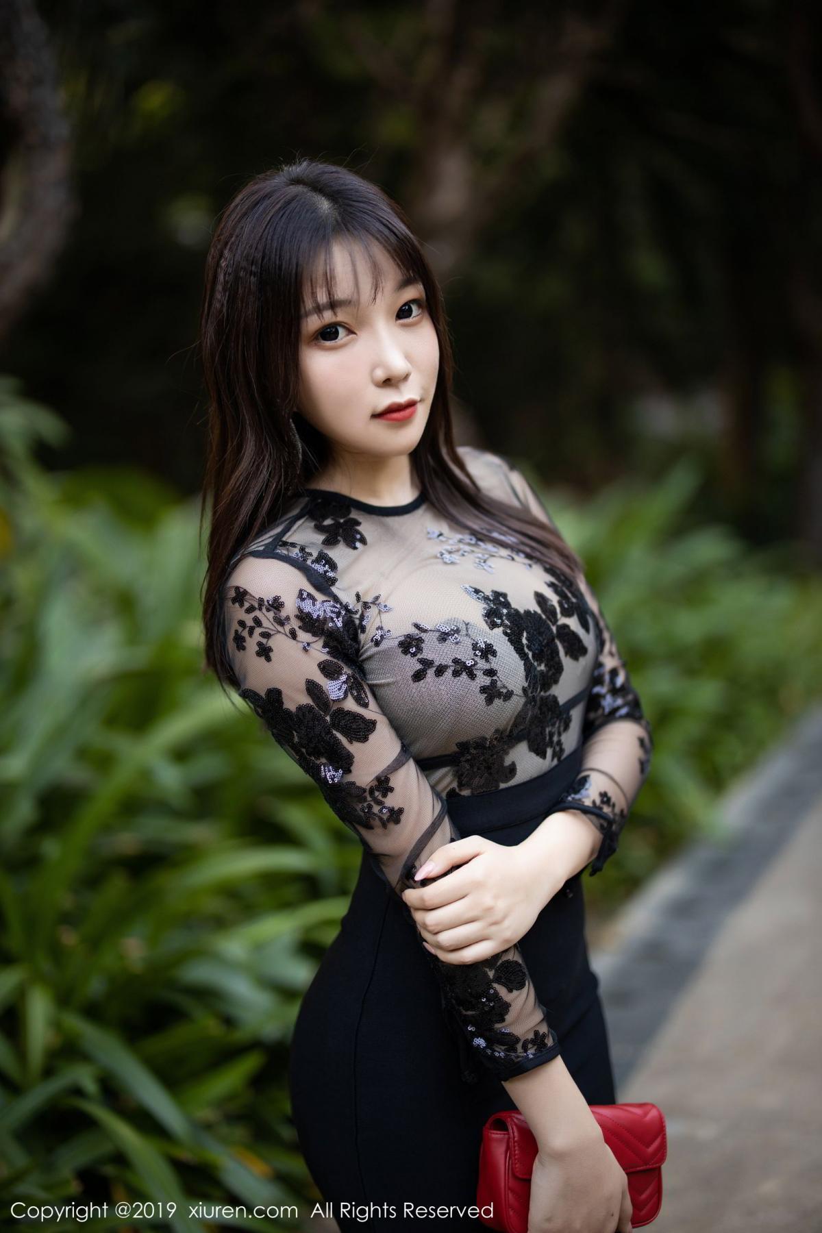 [XiuRen] Vol.1795 Chen Zhi 10P, Big Booty, Black Silk, Chen Zhi, Underwear, Xiuren