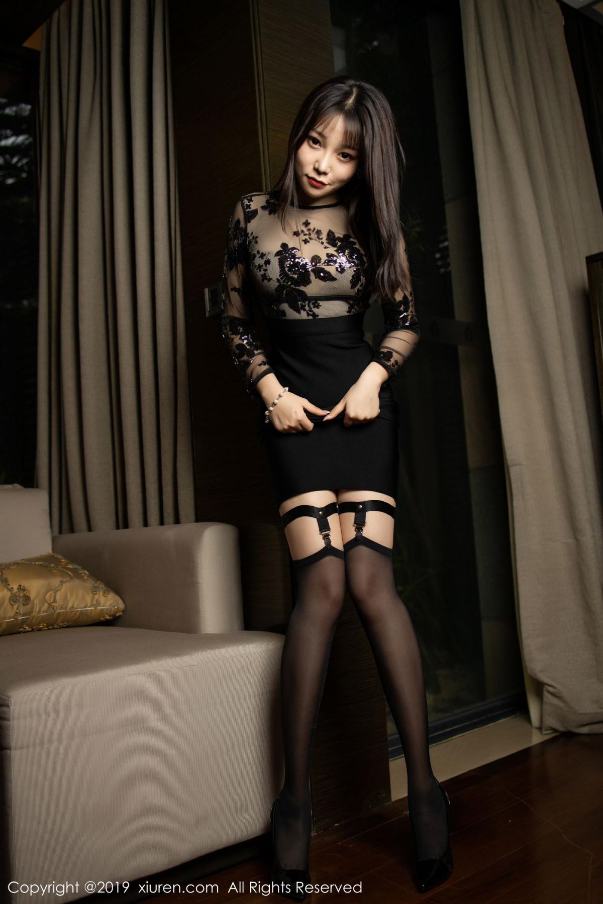 [XiuRen] Vol.1795 Chen Zhi 12P, Big Booty, Black Silk, Chen Zhi, Underwear, Xiuren