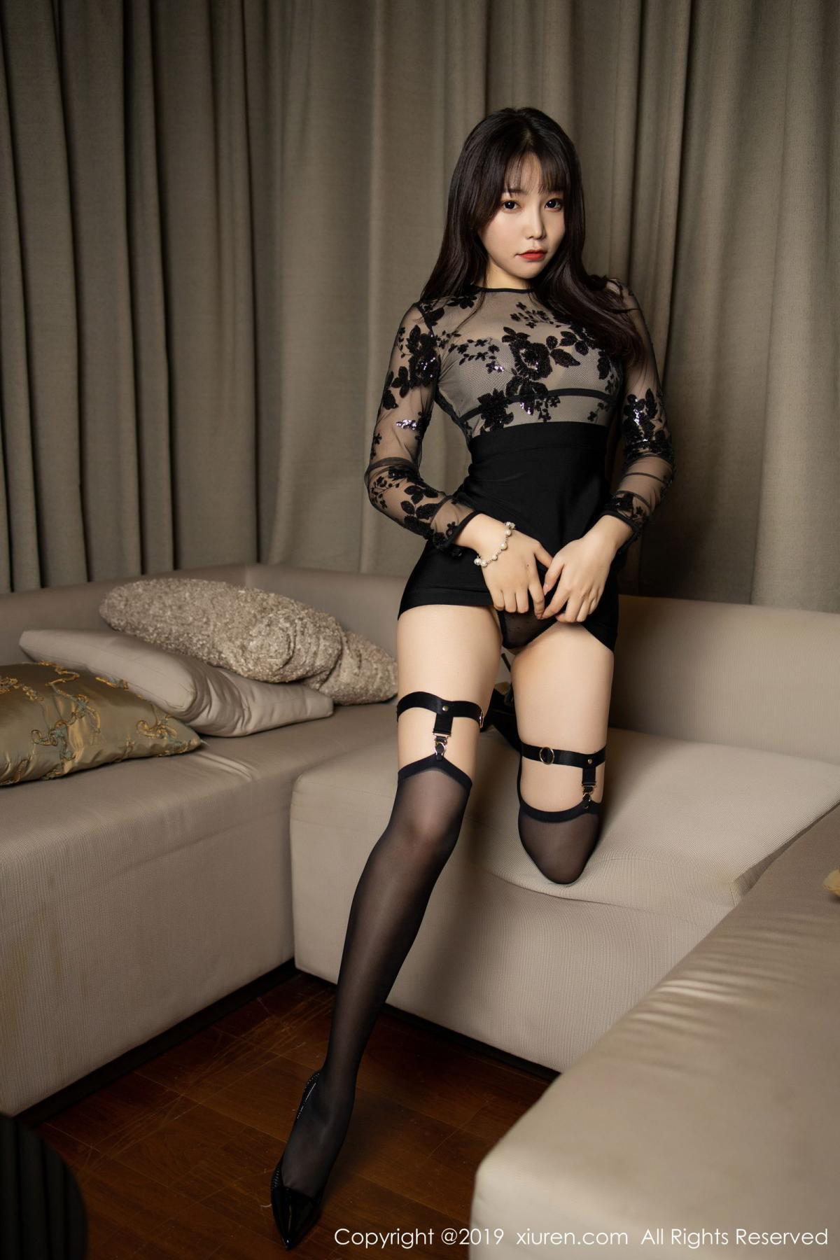 [XiuRen] Vol.1795 Chen Zhi 16P, Big Booty, Black Silk, Chen Zhi, Underwear, Xiuren